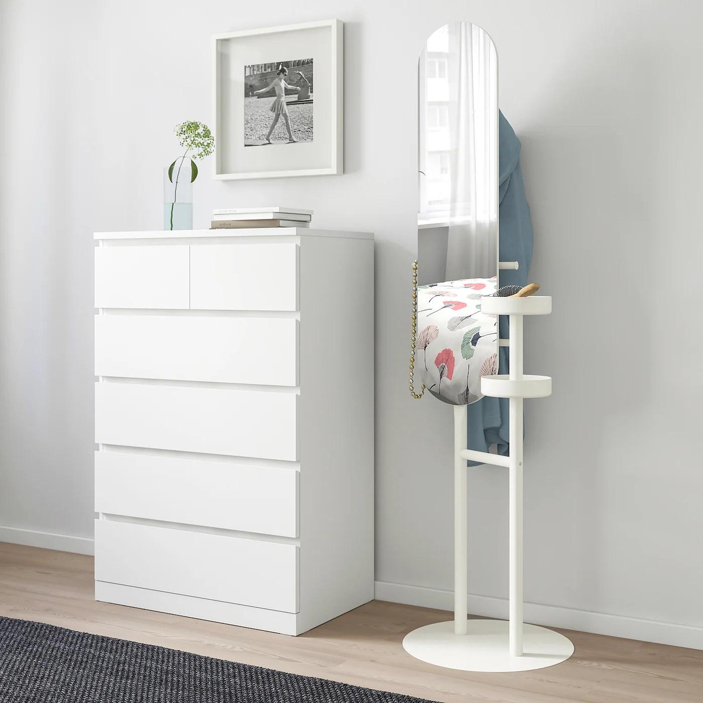 Lierskogen Valet Avec Miroir Blanc Ikea