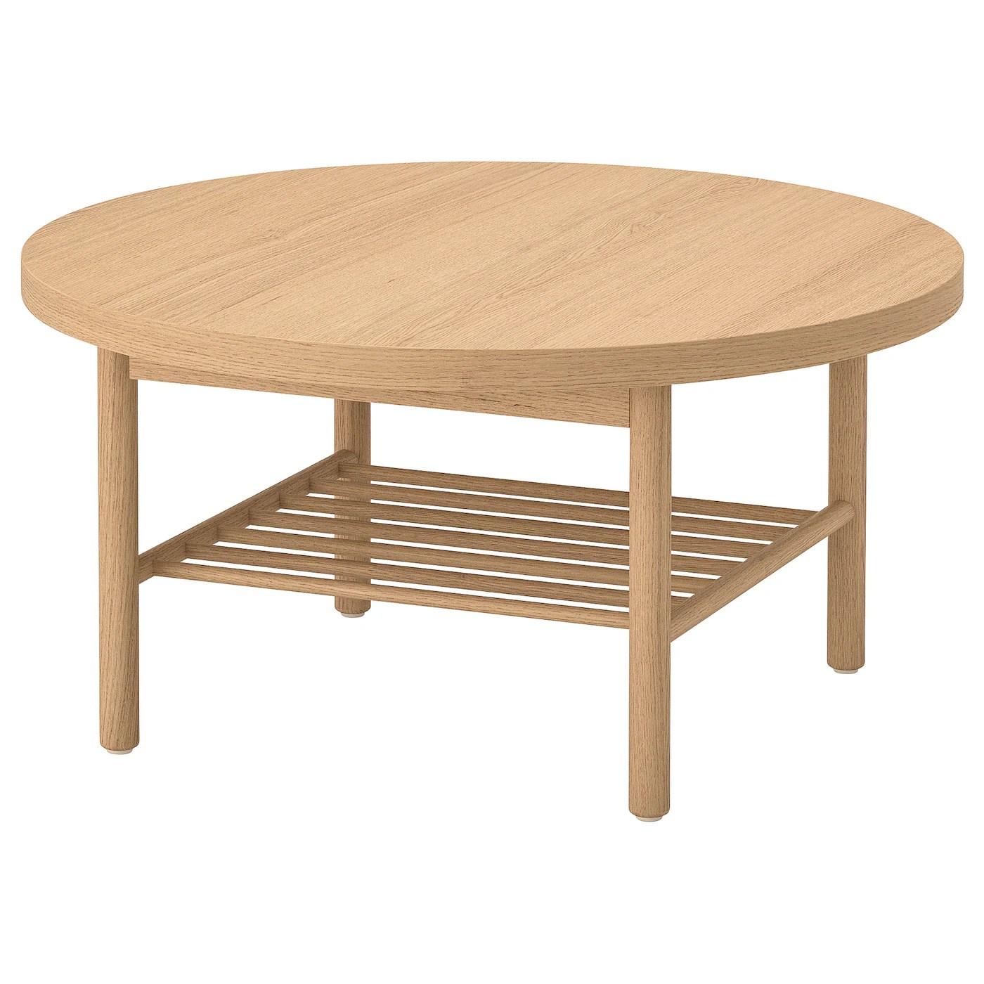 Listerby Table Basse Teinte Blanc Chene 90 Cm Ikea