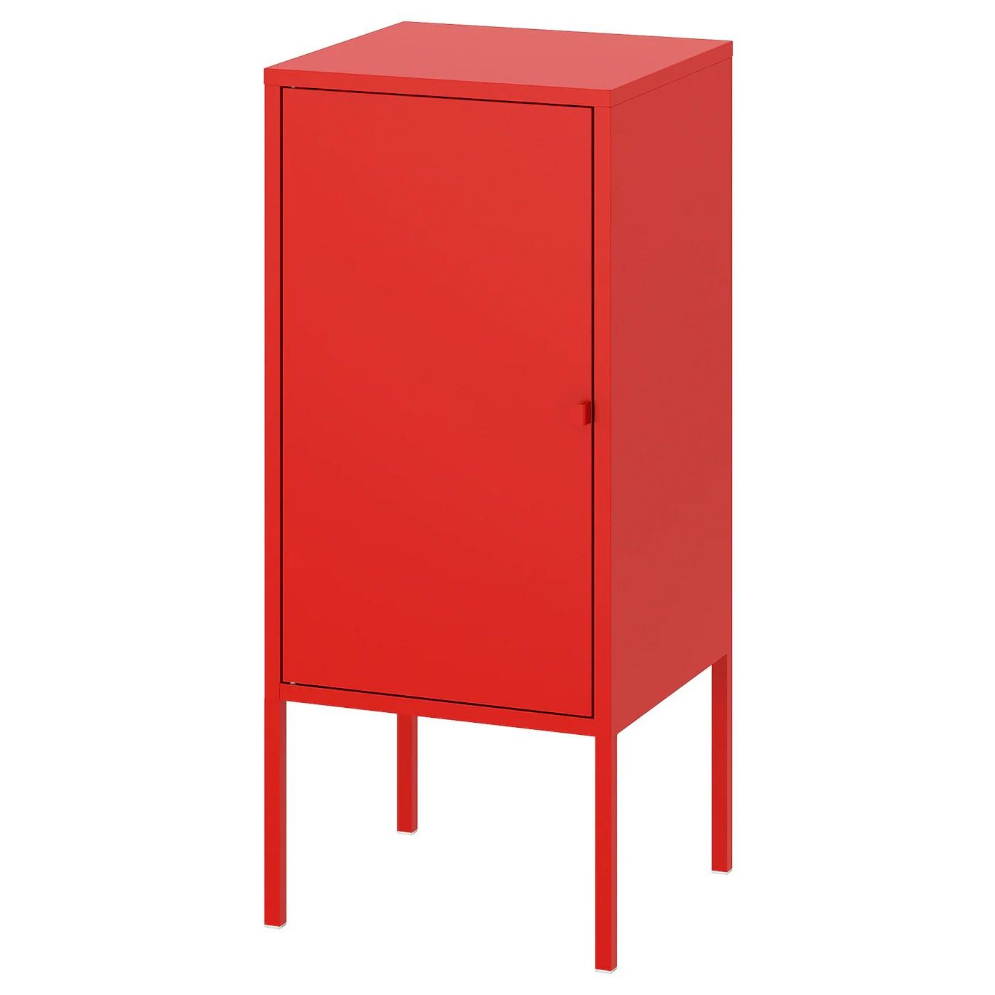 Lixhult Rangement Metal Rouge 35x60 Cm Ikea