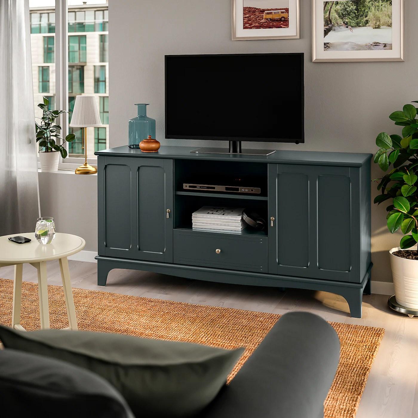 lommarp banc tv bleu vert fonce 159x45x81 cm