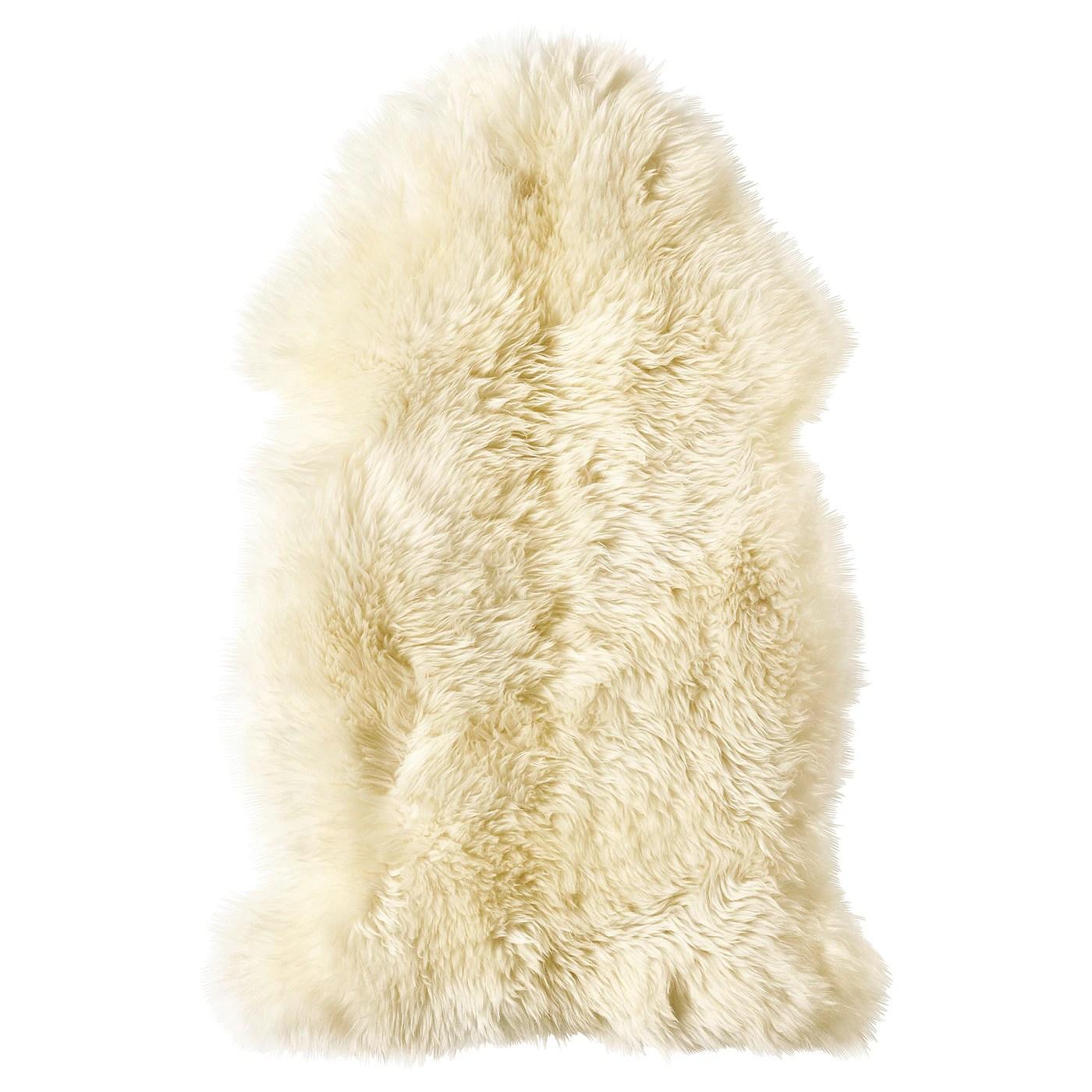 ludde peau de mouton blanc casse
