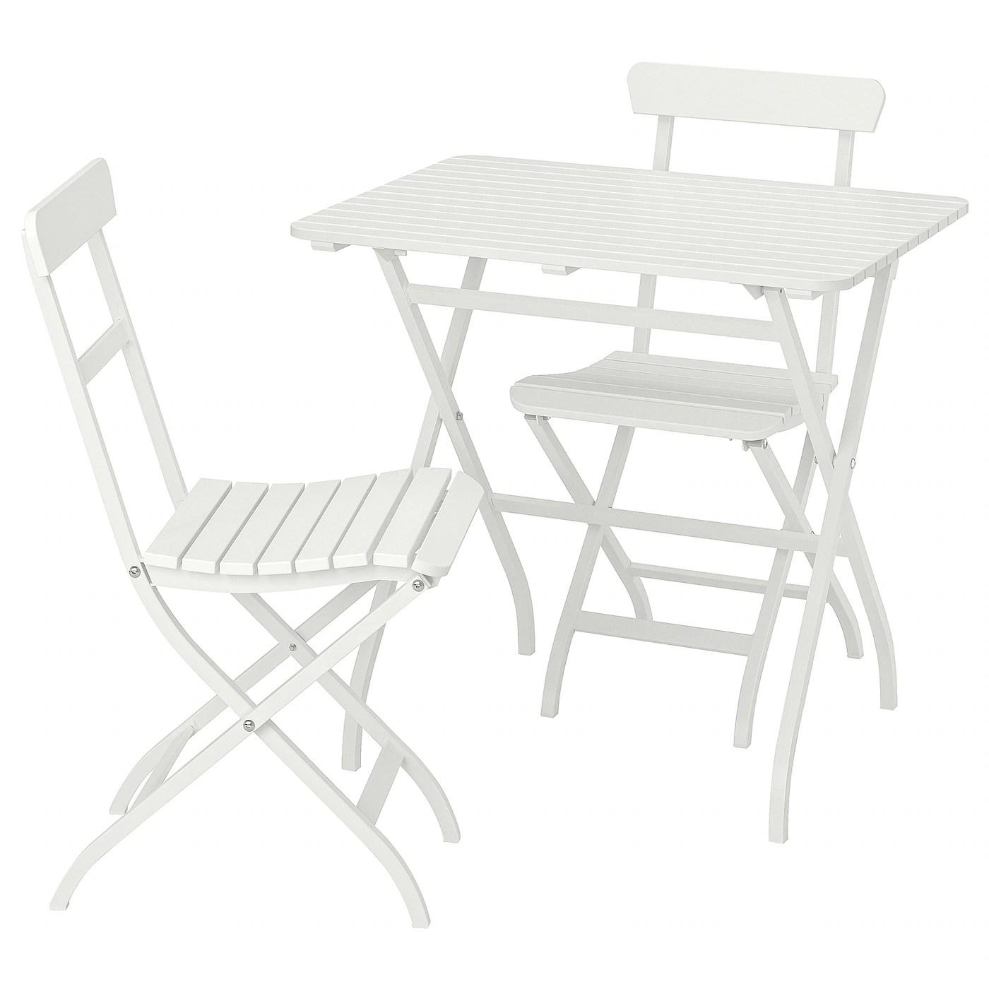 malaro table 2 chaises exterieur blanc