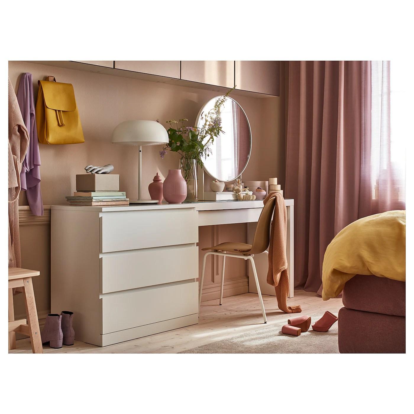 Malm Coiffeuse Blanc 120x41 Cm Ikea