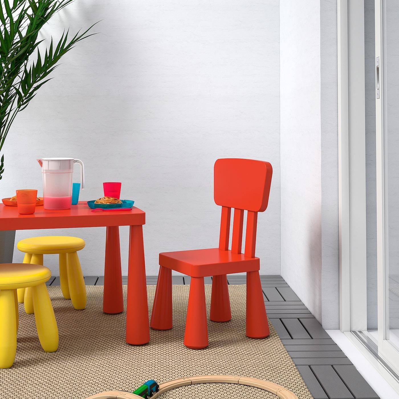 mammut chaise enfant interieur exterieur rouge
