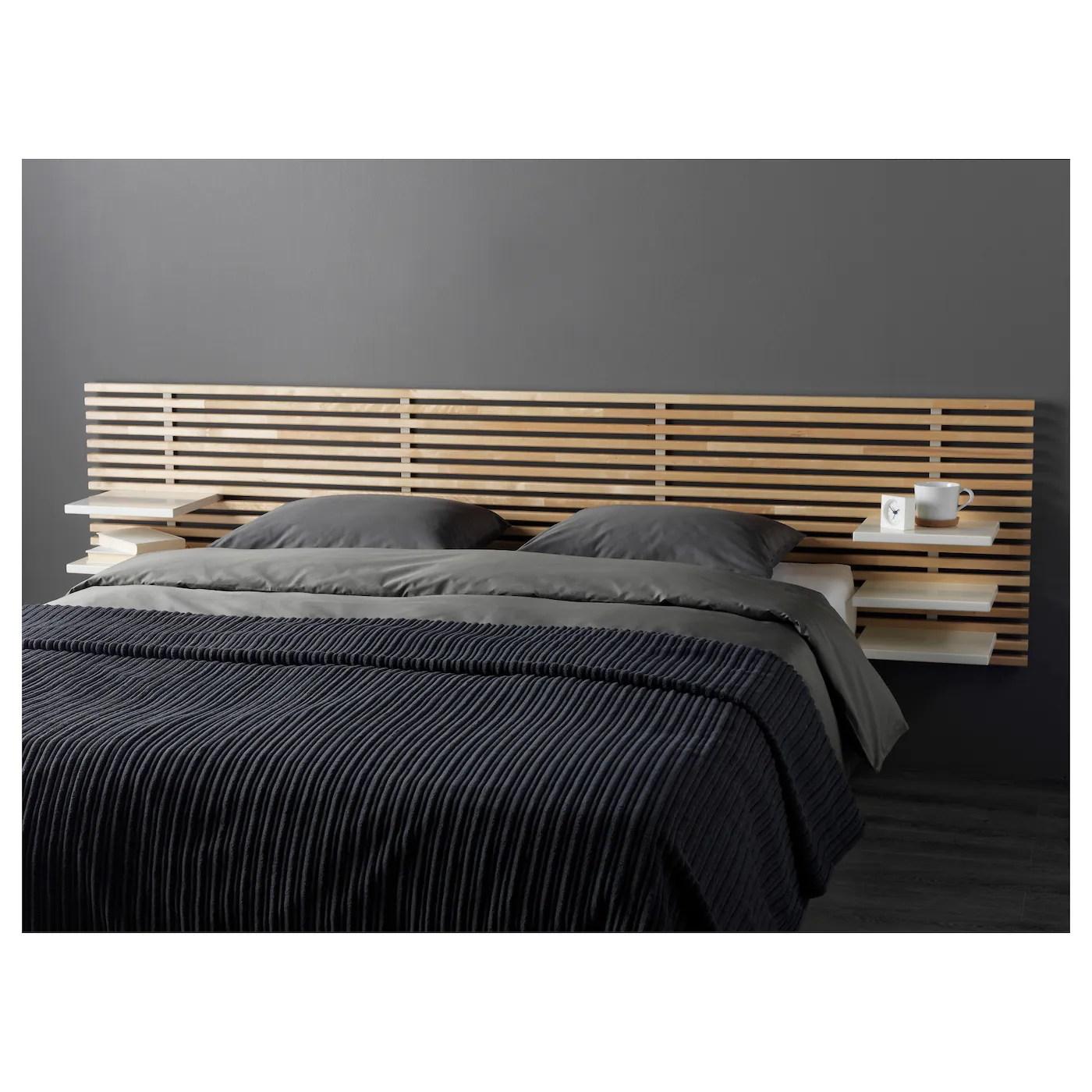 mandal tete de lit bouleau blanc 240 cm