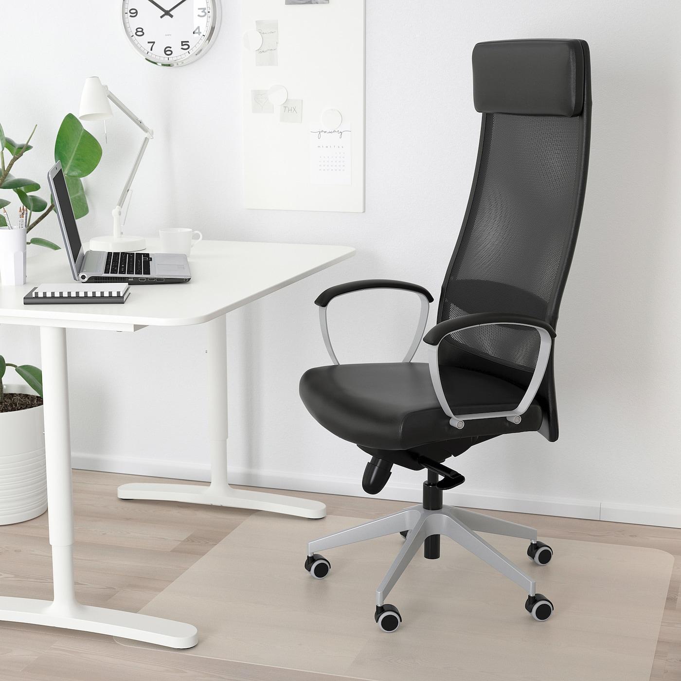 Markus Chaise De Bureau Glose Noir Robust Noir Ikea