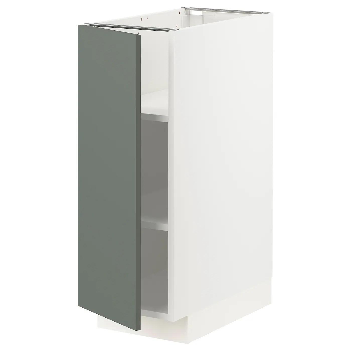 Metod Element Bas Avec Tablettes Blanc Bodarp Gris Vert 30x60 Cm Ikea