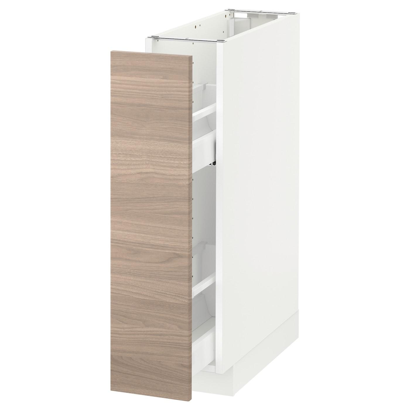 Metod Element Bas Rgts Coulissants Blanc Brokhult Gris Clair 20x60 Cm Ikea