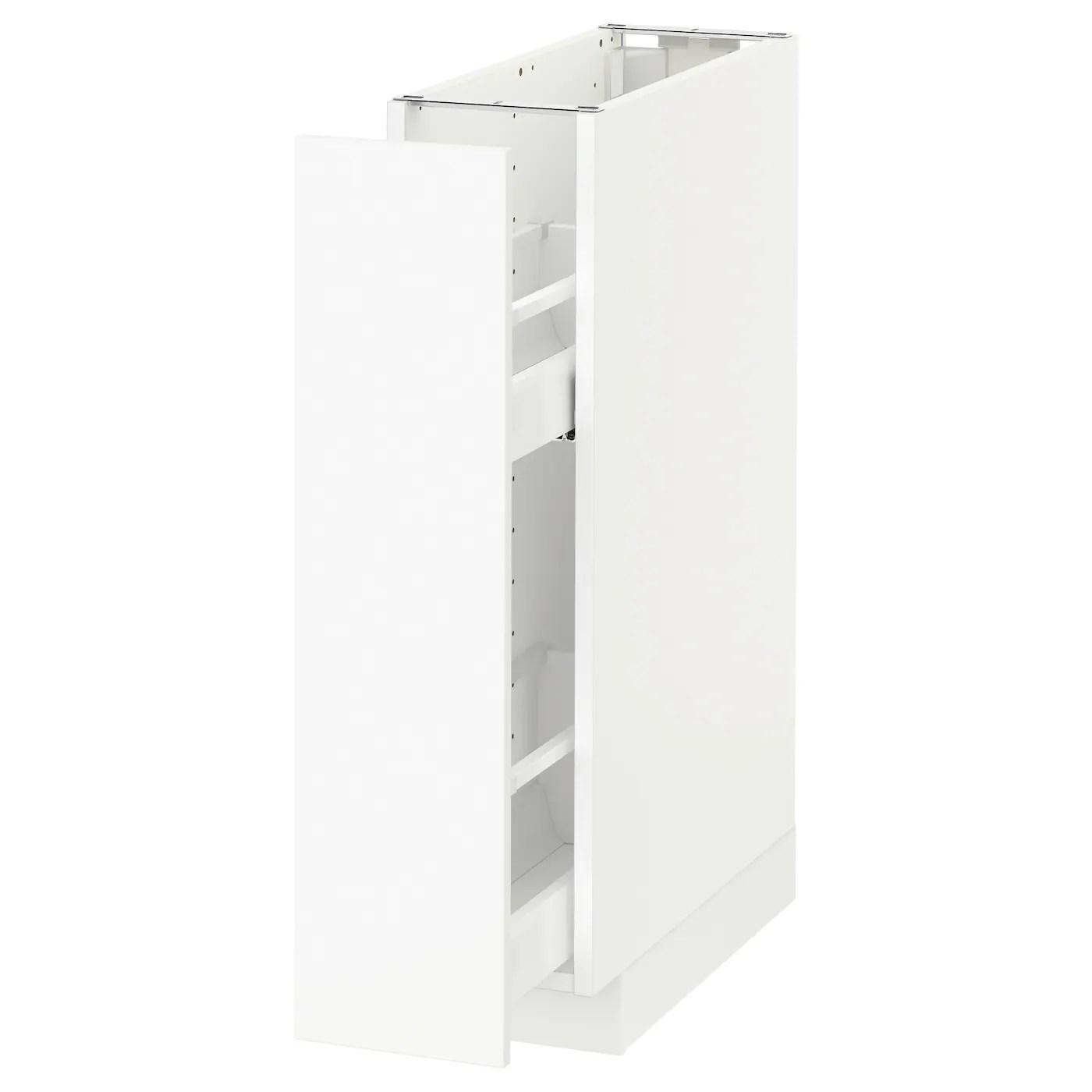 Metod Element Bas Rgts Coulissants Blanc Haggeby Blanc 20x60 Cm Ikea