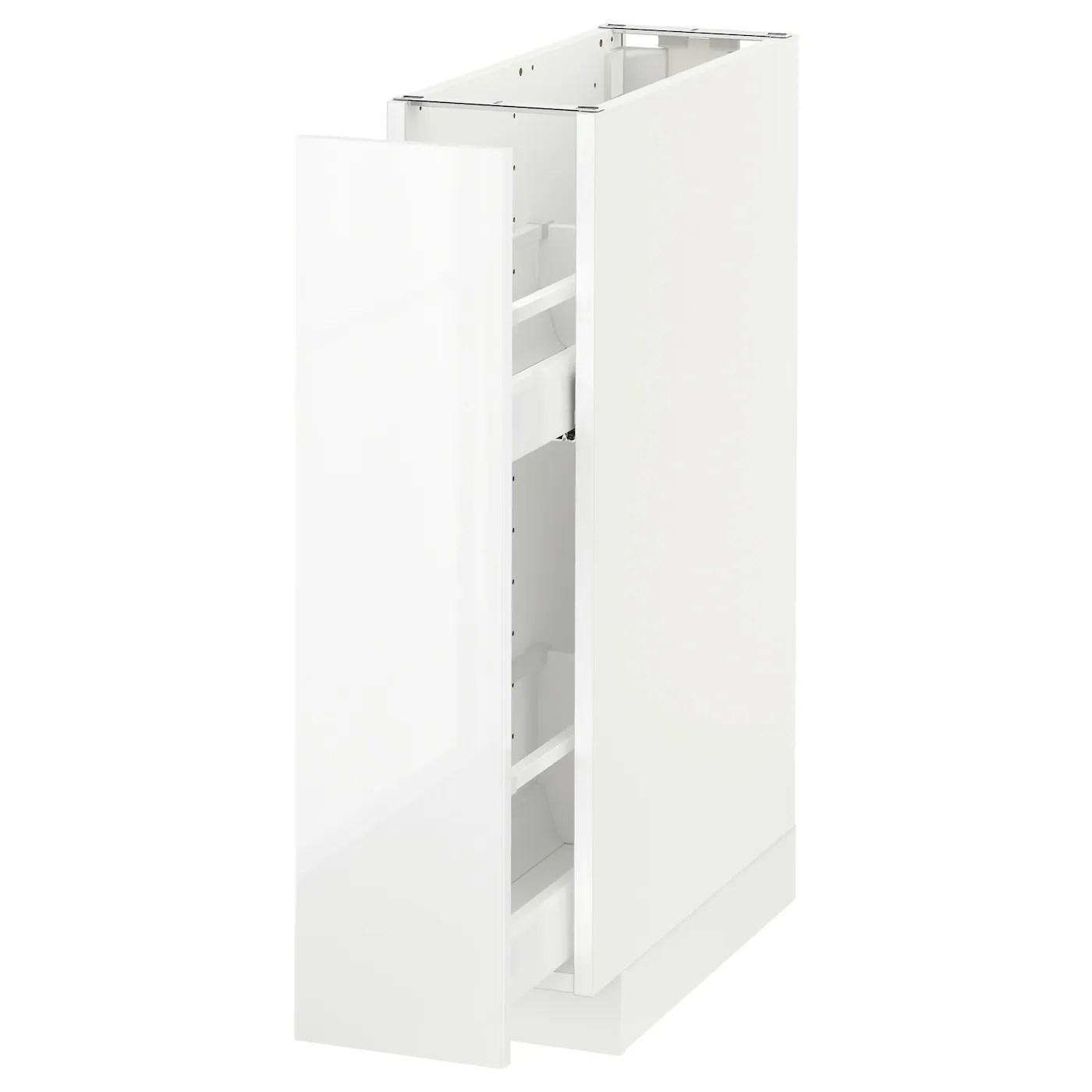 Metod Element Bas Rgts Coulissants Blanc Ringhult Blanc 20x60 Cm Ikea