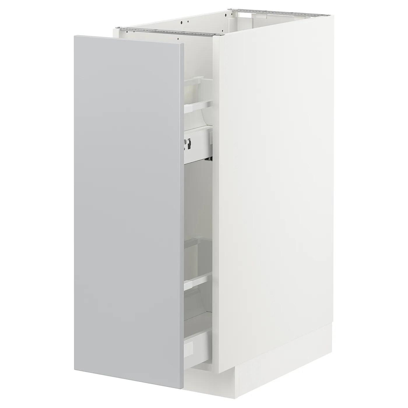 Metod Element Bas Rgts Coulissants Blanc Veddinge Gris 30x60 Cm Ikea