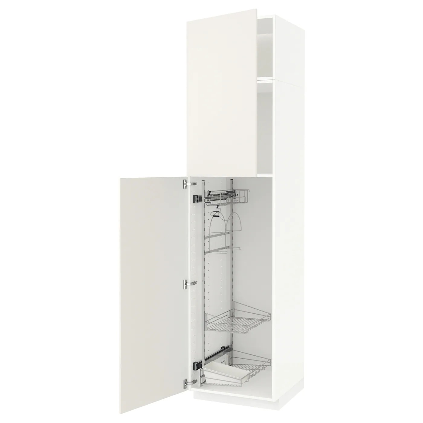 Metod Elt Haut Et Rangt Prod Entr Blanc Veddinge Blanc 60x60x240 Cm Ikea
