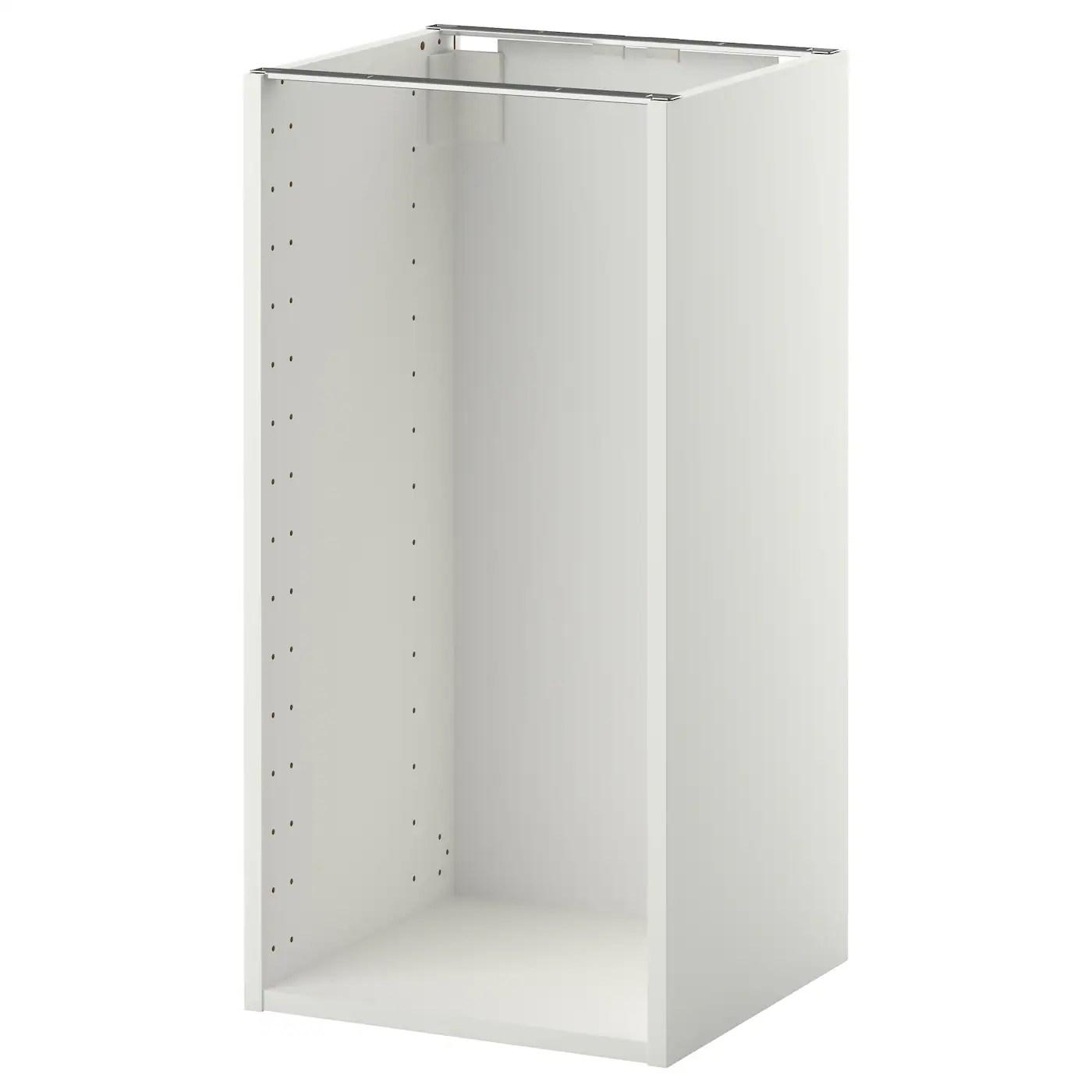 Metod Structure Element Bas Blanc 40x37x80 Cm Ikea