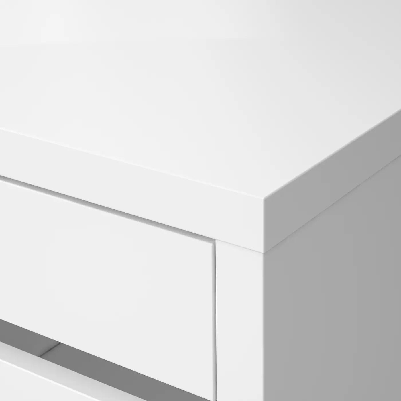ikea micke bureau avec rangement blanc