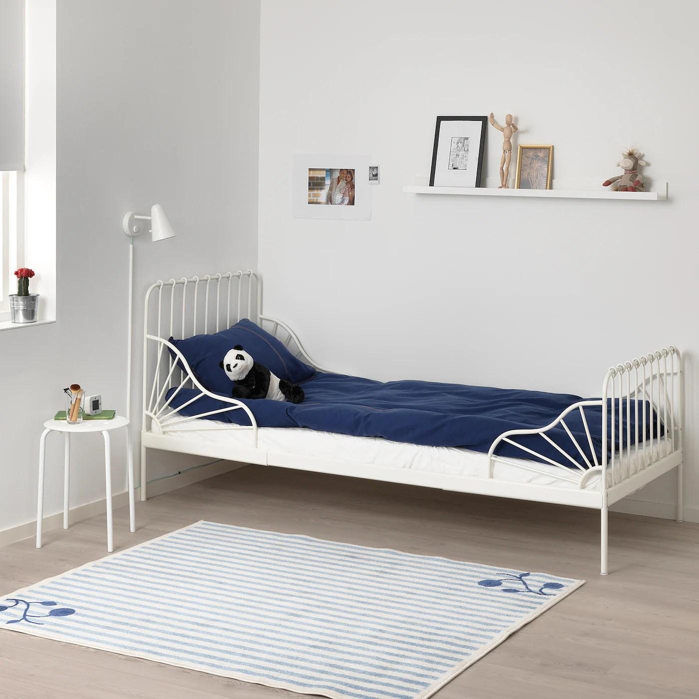 Minnen Cadre De Lit Extensible Blanc 80x200 Cm Ikea
