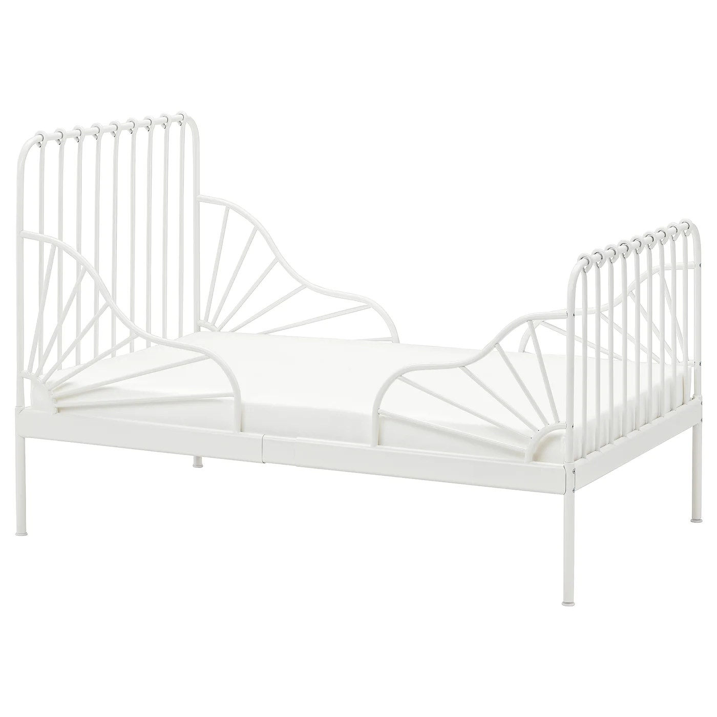 Minnen Struct Lit Ext Av Sommier A Lattes Blanc 80x200 Cm Ikea