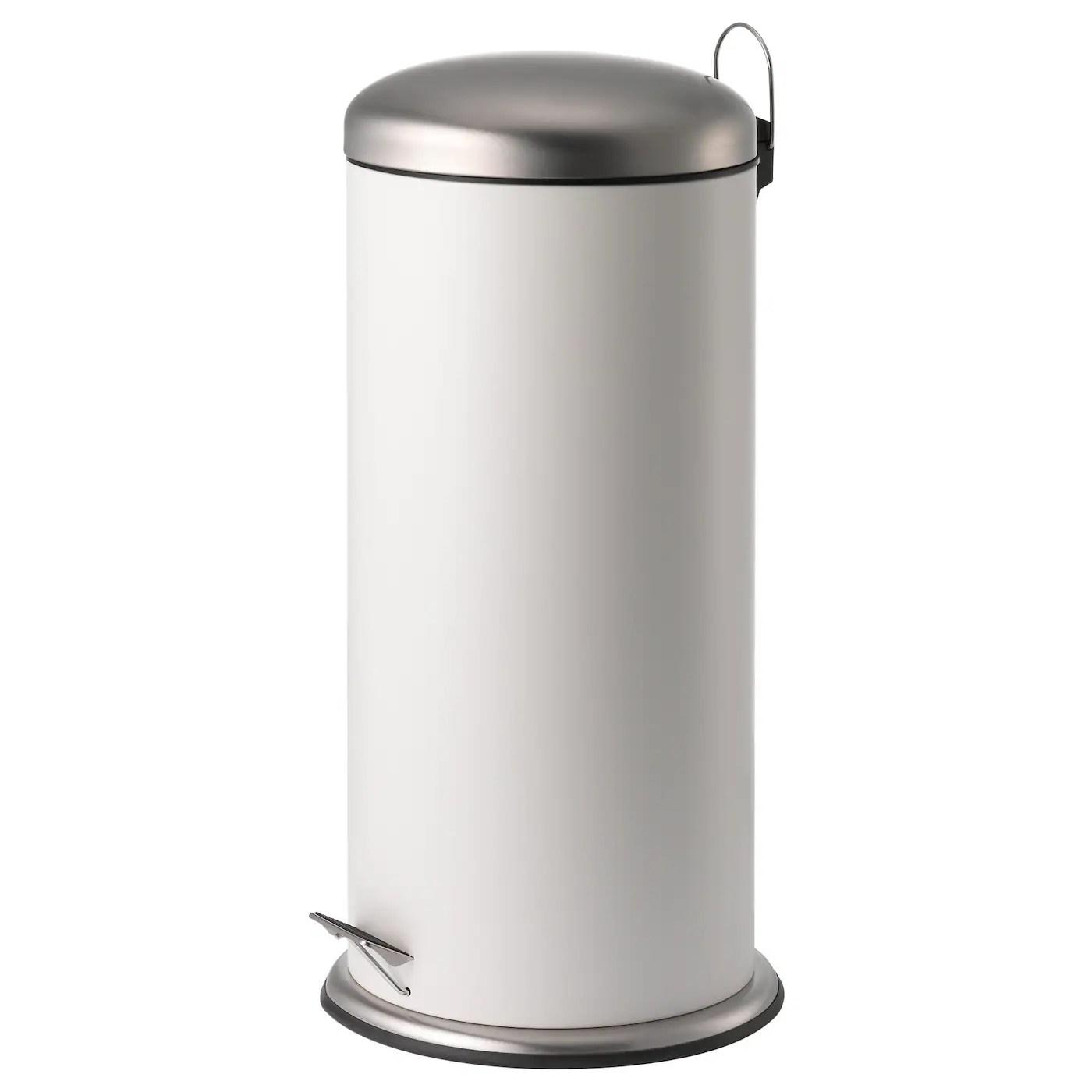 Mjosa Poubelle A Pedale Blanc 30 L Ikea