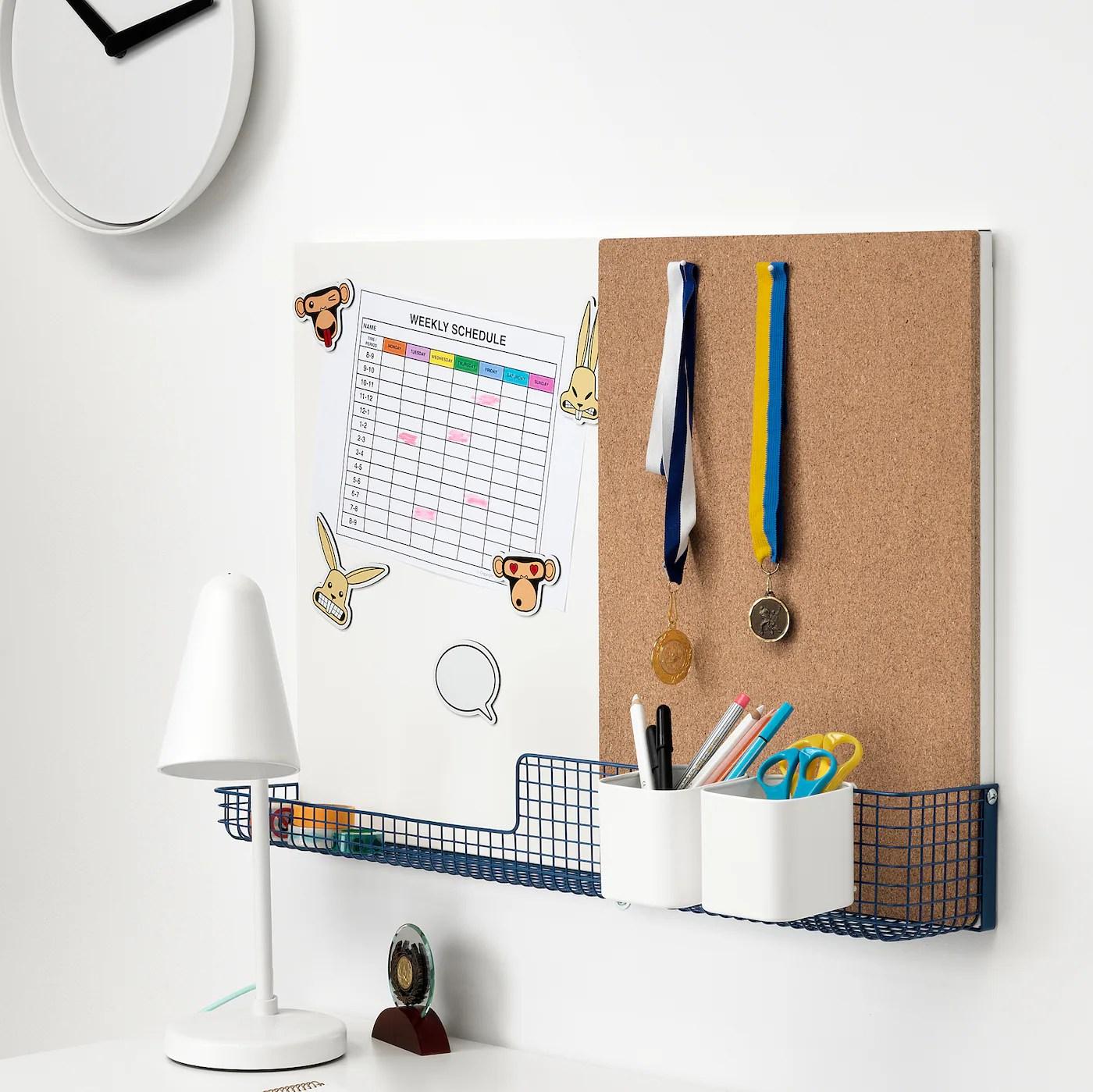 Mojlighet Tableau D Affichage Avec Panier Blanc Bleu 71x49 Cm Ikea
