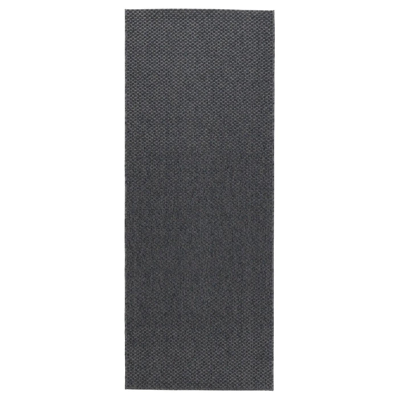 morum tapis tisse a plat int exterieur gris fonce 80x200 cm