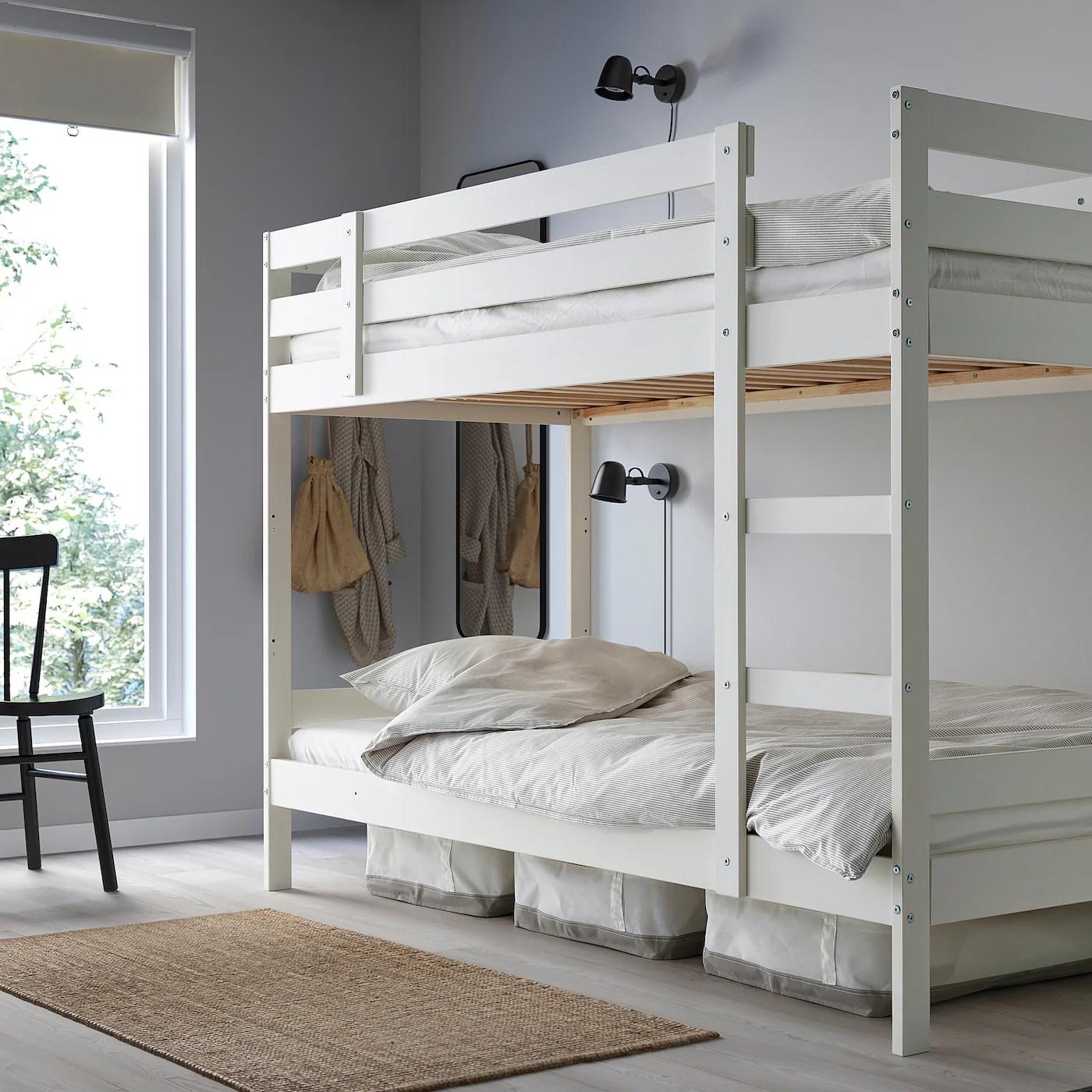 Mydal Structure Lits Superposes Blanc 90x200 Cm Ikea