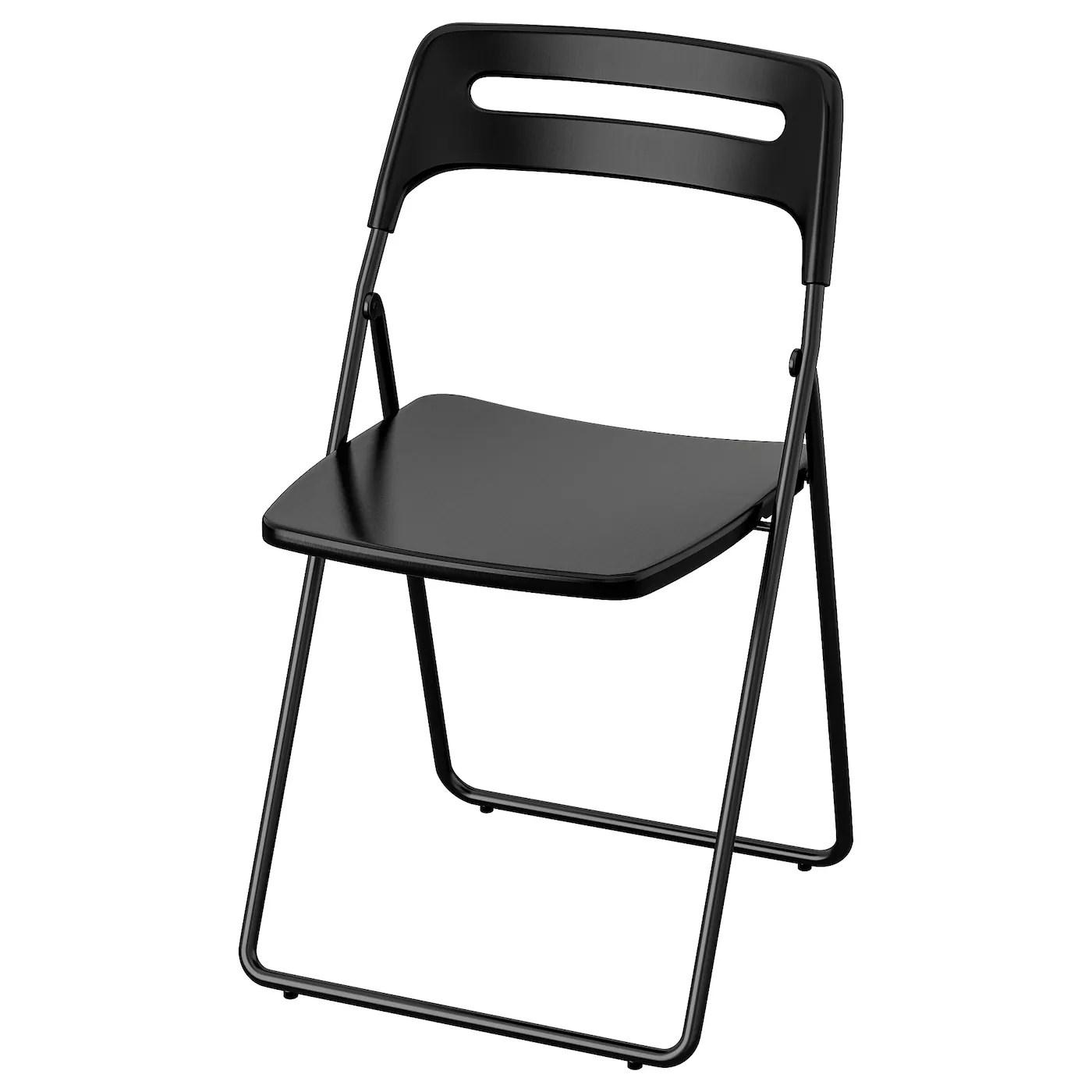 Nisse Chaise Pliante Noir Ikea