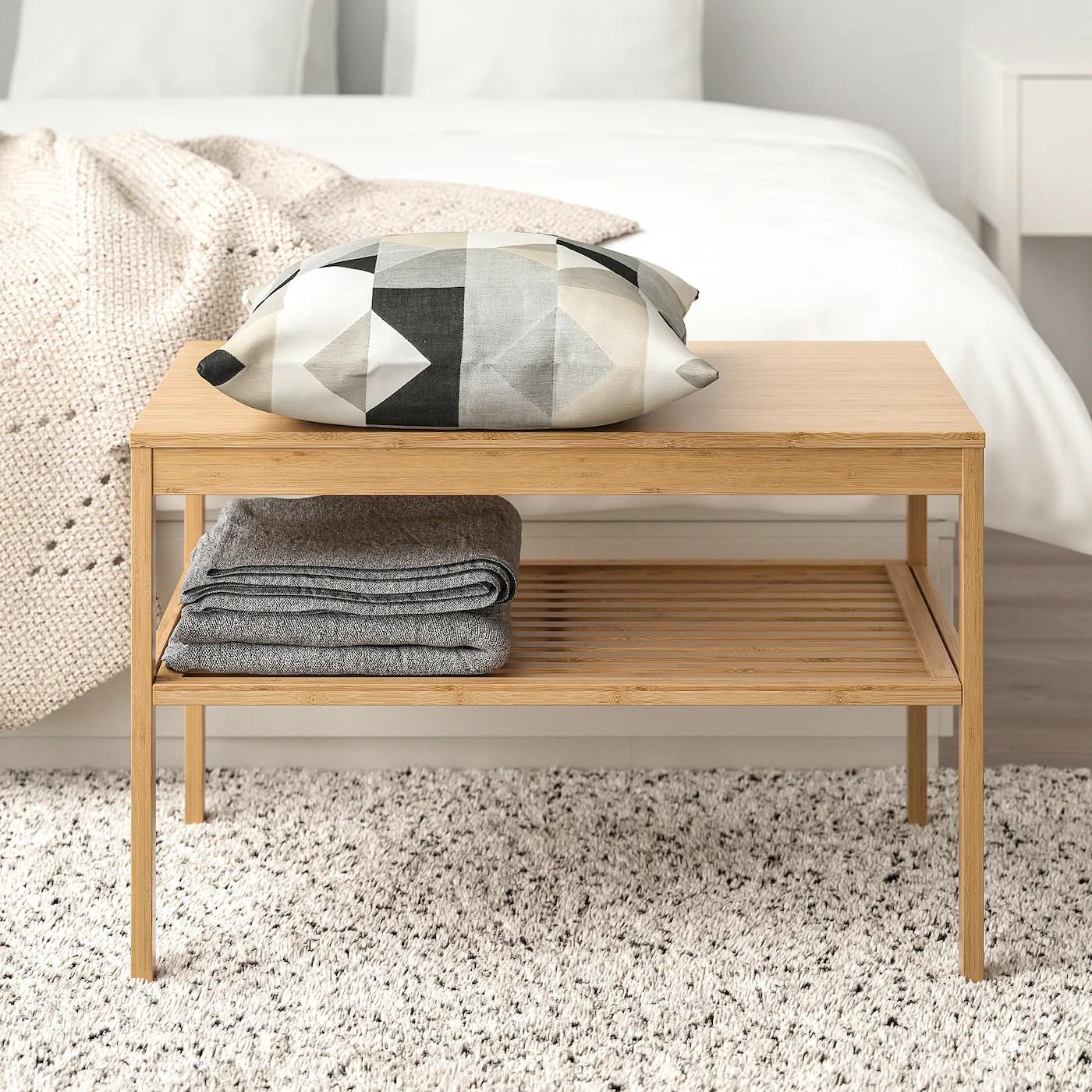 Nordkisa Banc Bambou Materiau Durable Ikea