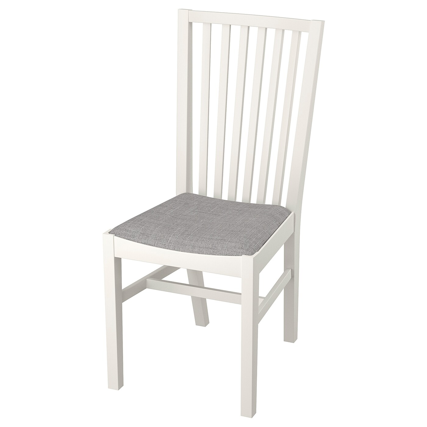 norrnas chaise blanc isunda gris