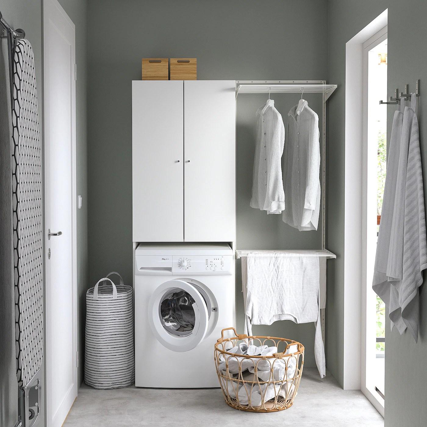 Nysjon Meuble Pour Machine A Laver Blanc 65x190 Cm Ikea