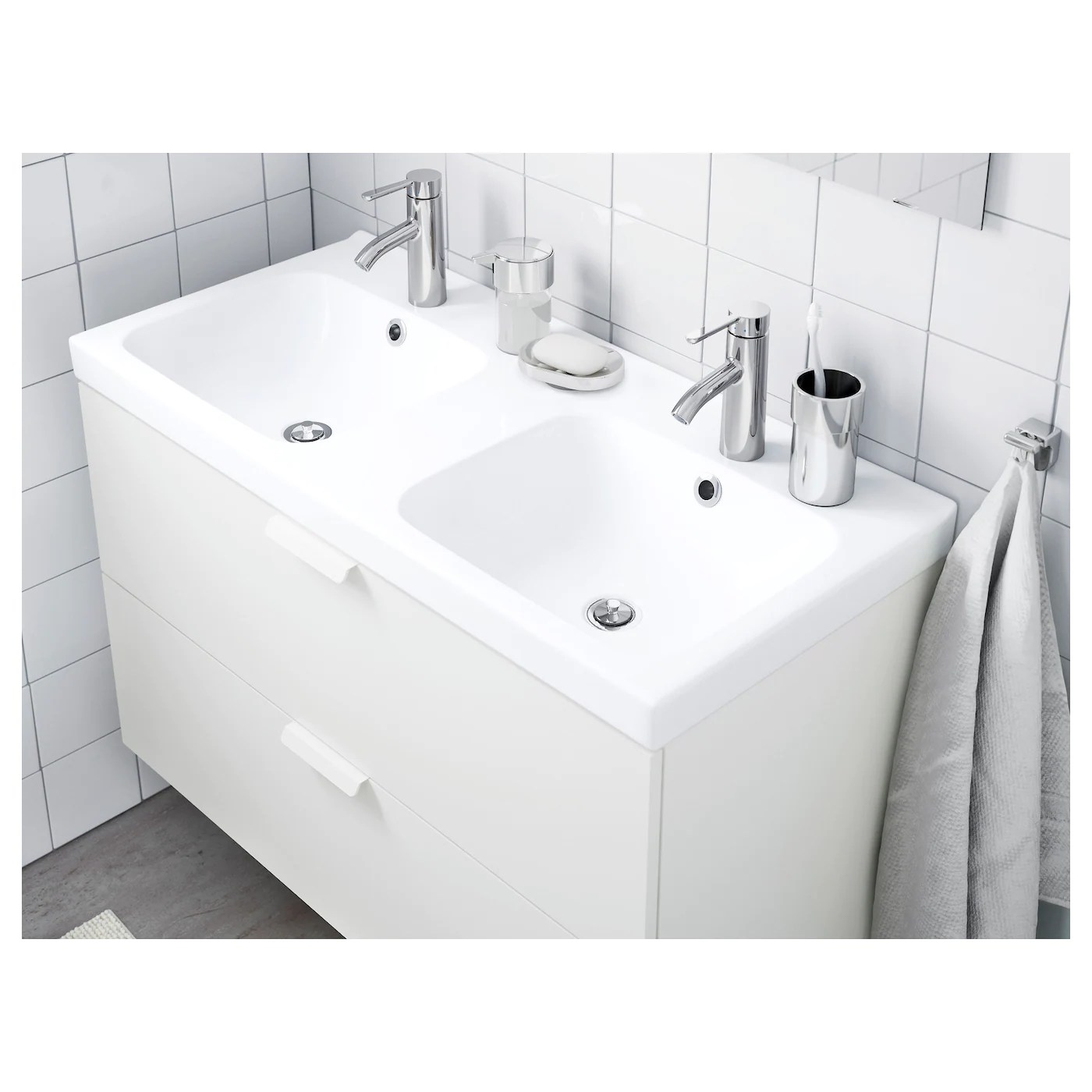 Odensvik Double Vasque 103x49x6 Cm Ikea
