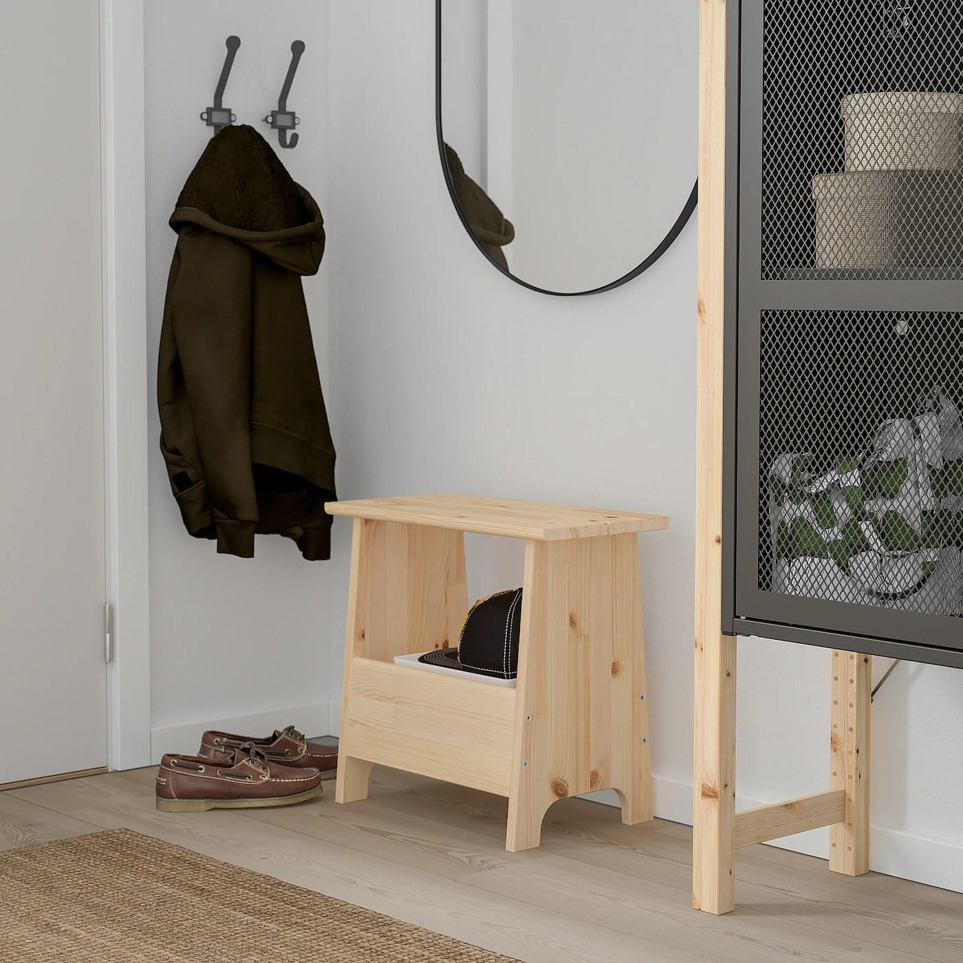 Perjohan Tabouret Avec Rangement Pin Ikea