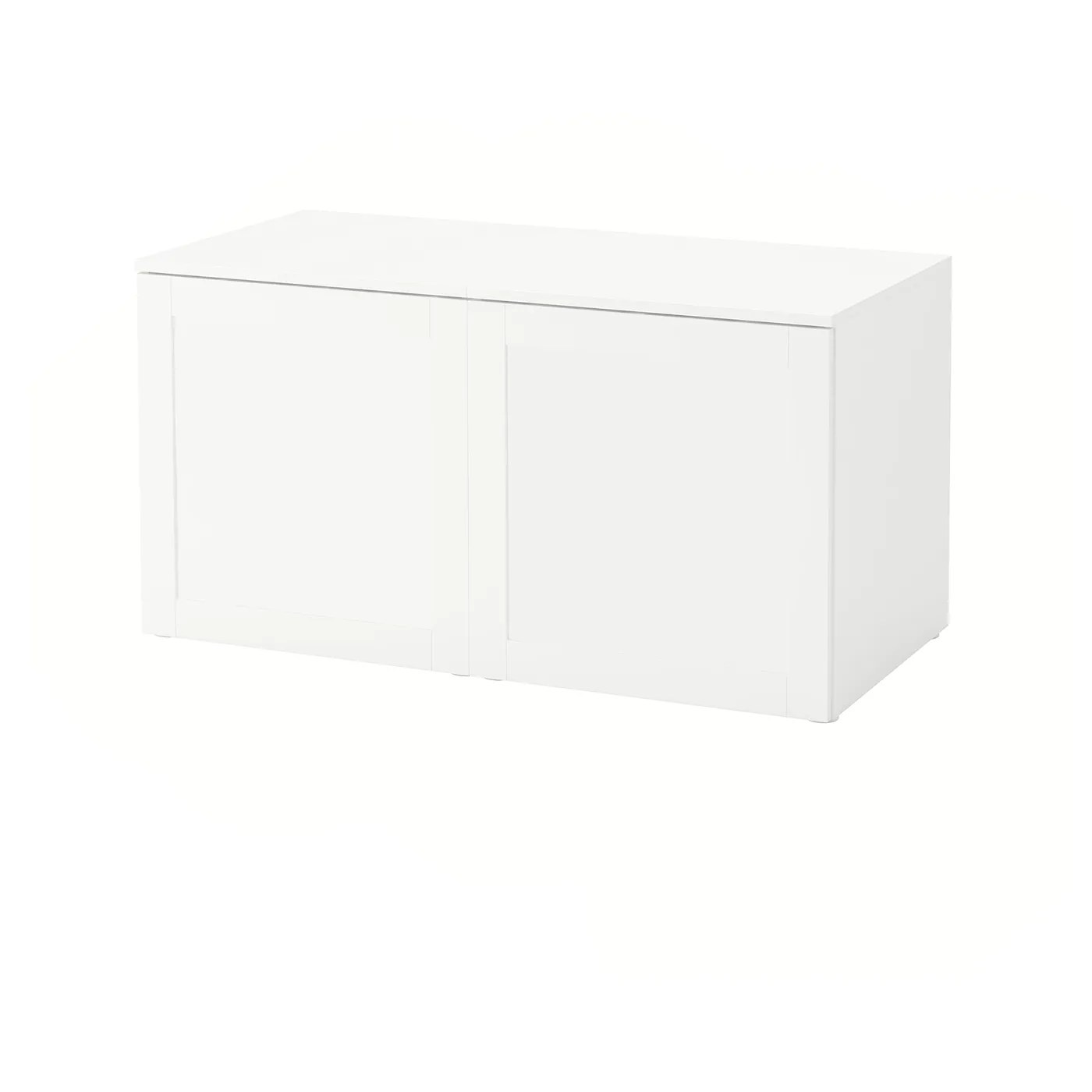 platsa banc avec rangement blanc sannidal blanc 120x57x63 cm
