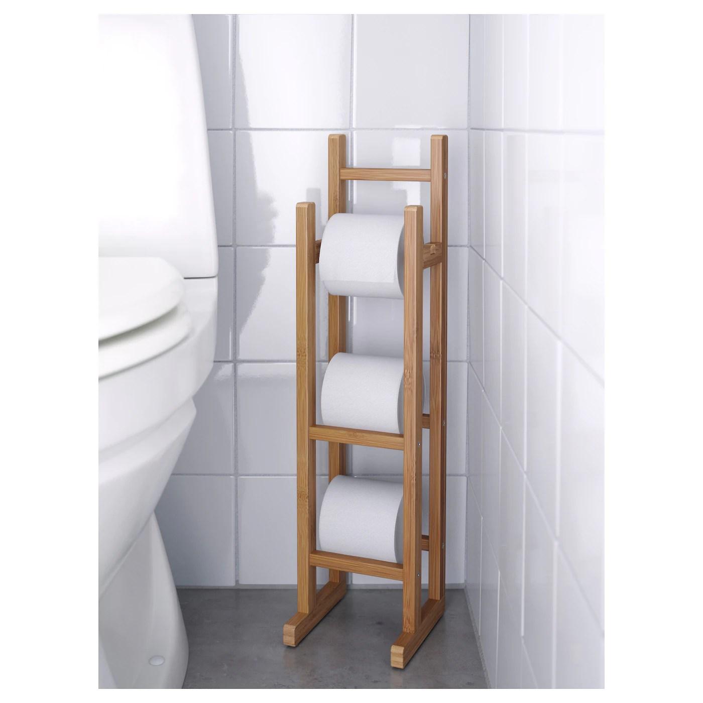 Ragrund Range Rouleaux Wc Bambou Materiau Durable Ikea