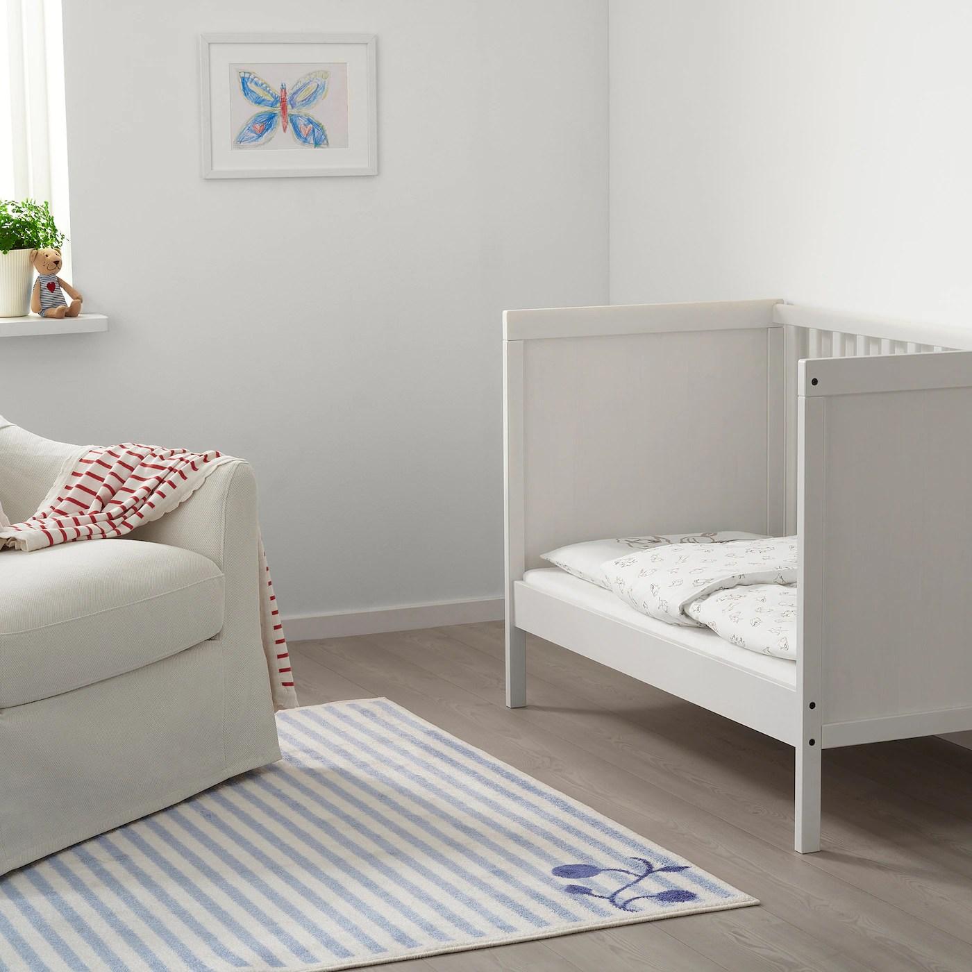 rodhake housse couette et taie bebe motif lapin blanc beige 110x125 35x55 cm