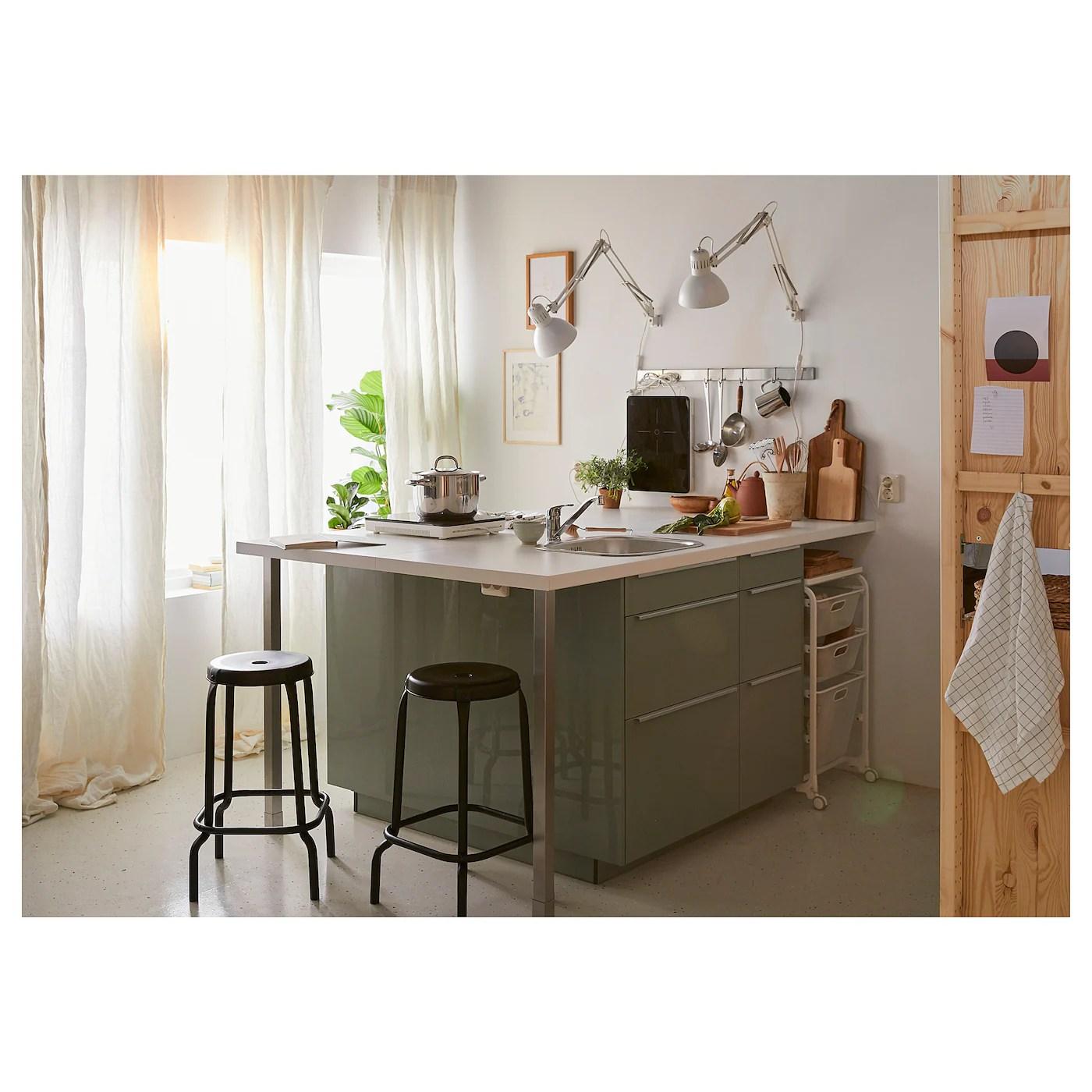 Saljan Plan De Travail Blanc Stratifie 186x3 Ikea