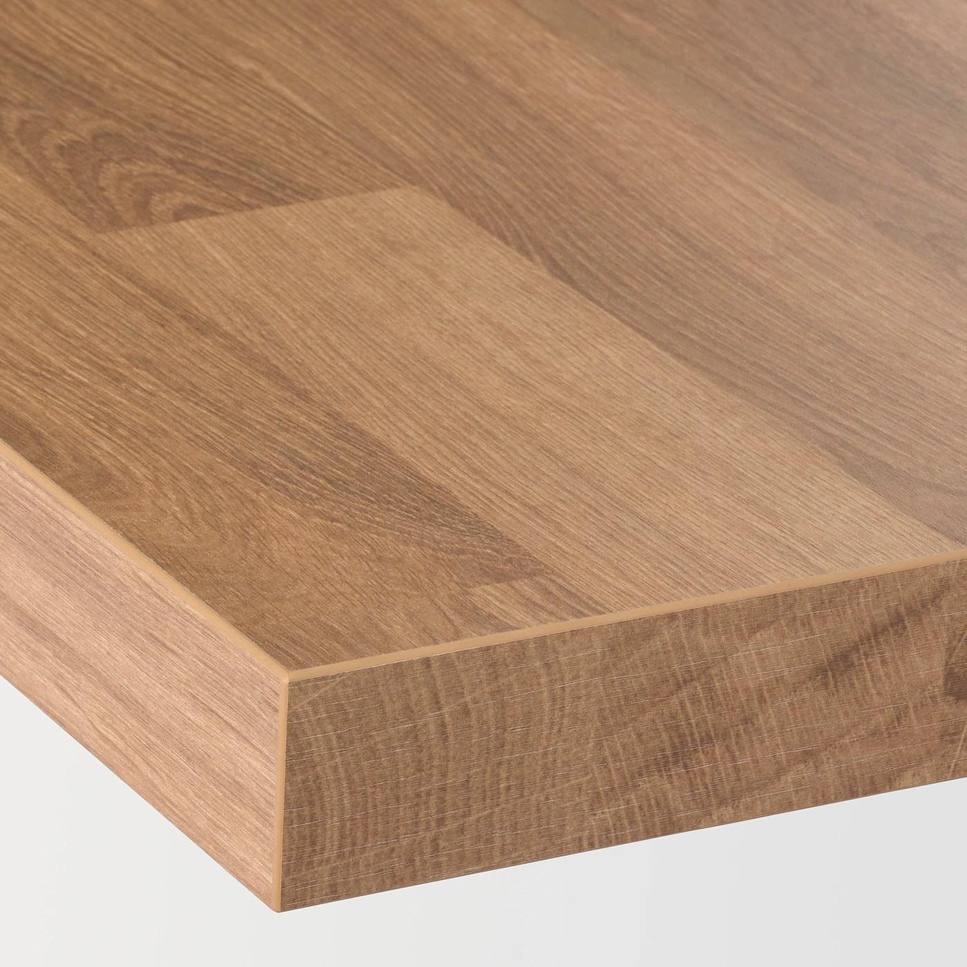 Saljan Plan De Travail Motif Chene Stratifie 186x3 8 Cm Ikea