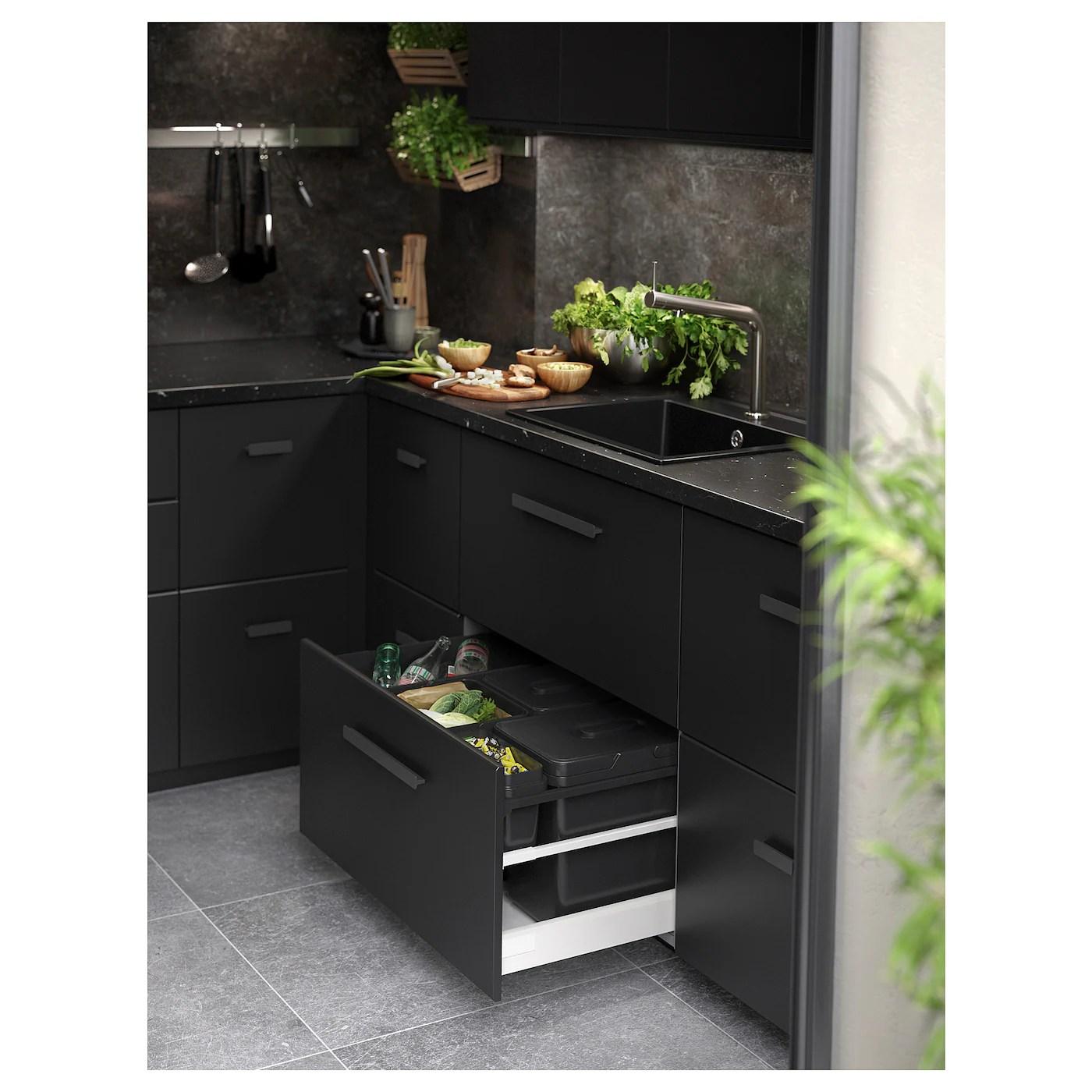 Saljan Plan De Travail Sur Mesure Noir Marbre Stratifie 45 Ikea