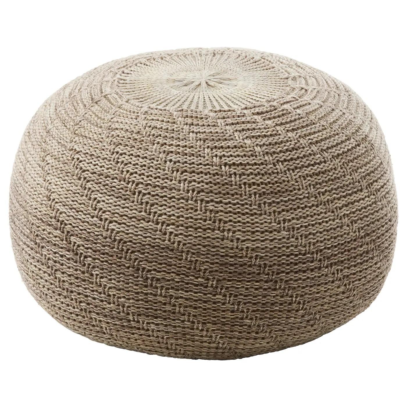 sandared pouf beige 45 cm
