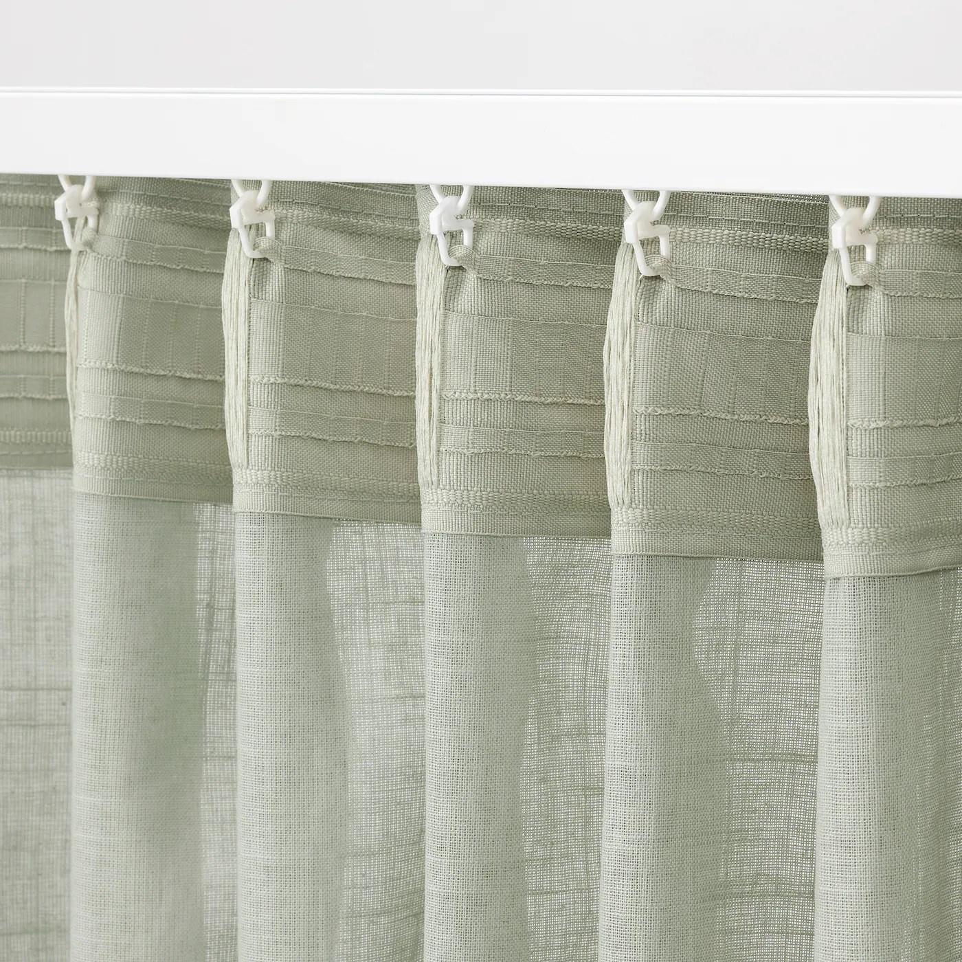 silverlonn voilage 2 pieces vert clair 145x300 cm