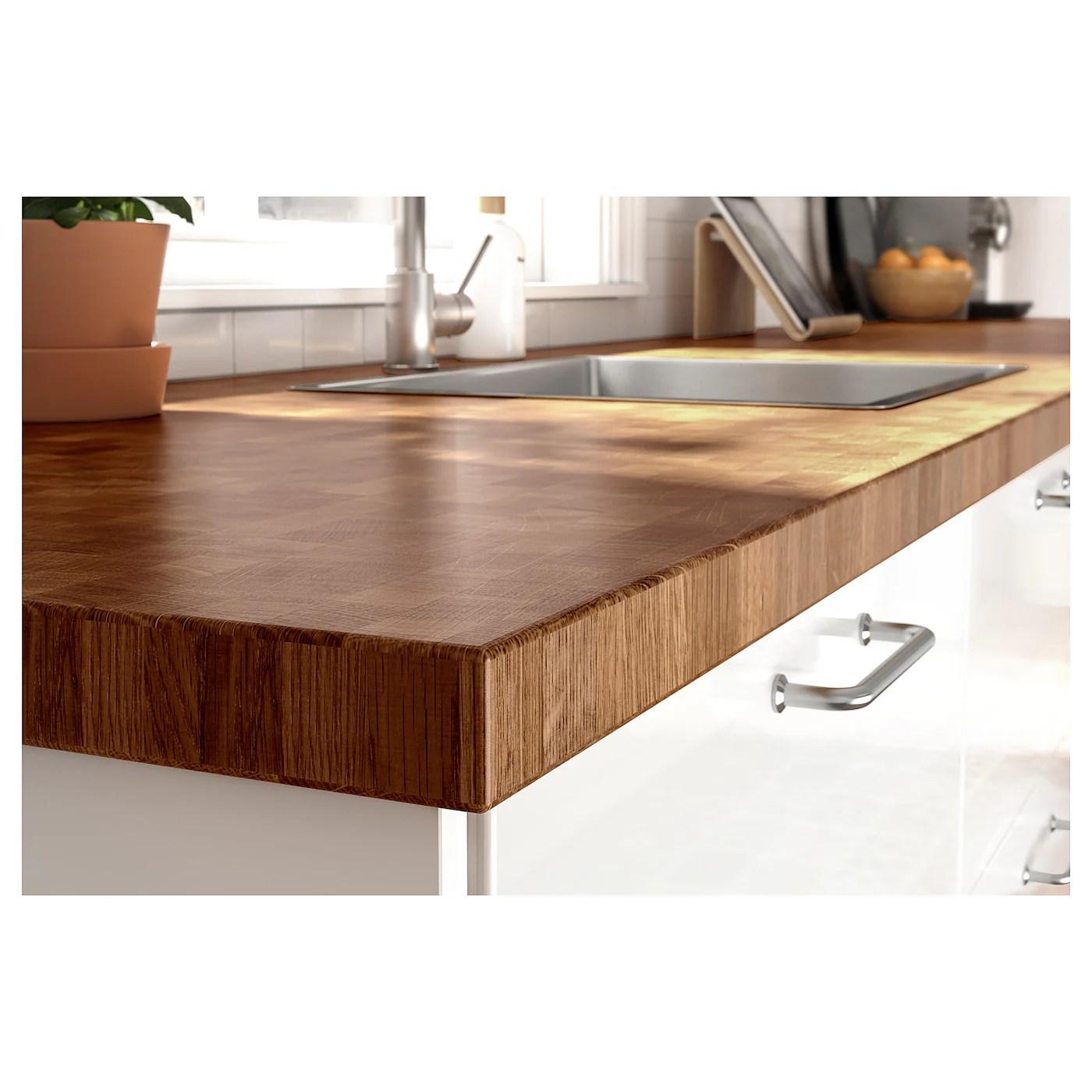Skogsa Plan De Travail Chene Plaque 246x3 Ikea