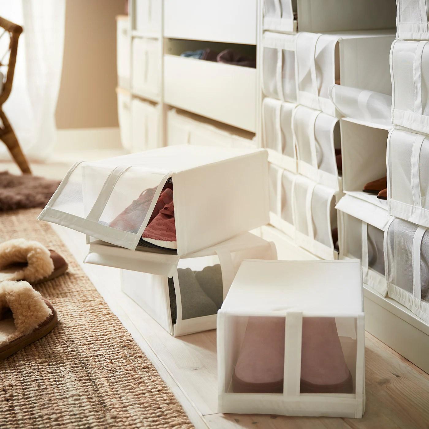 skubb boite a chaussures blanc 22x34x16 cm