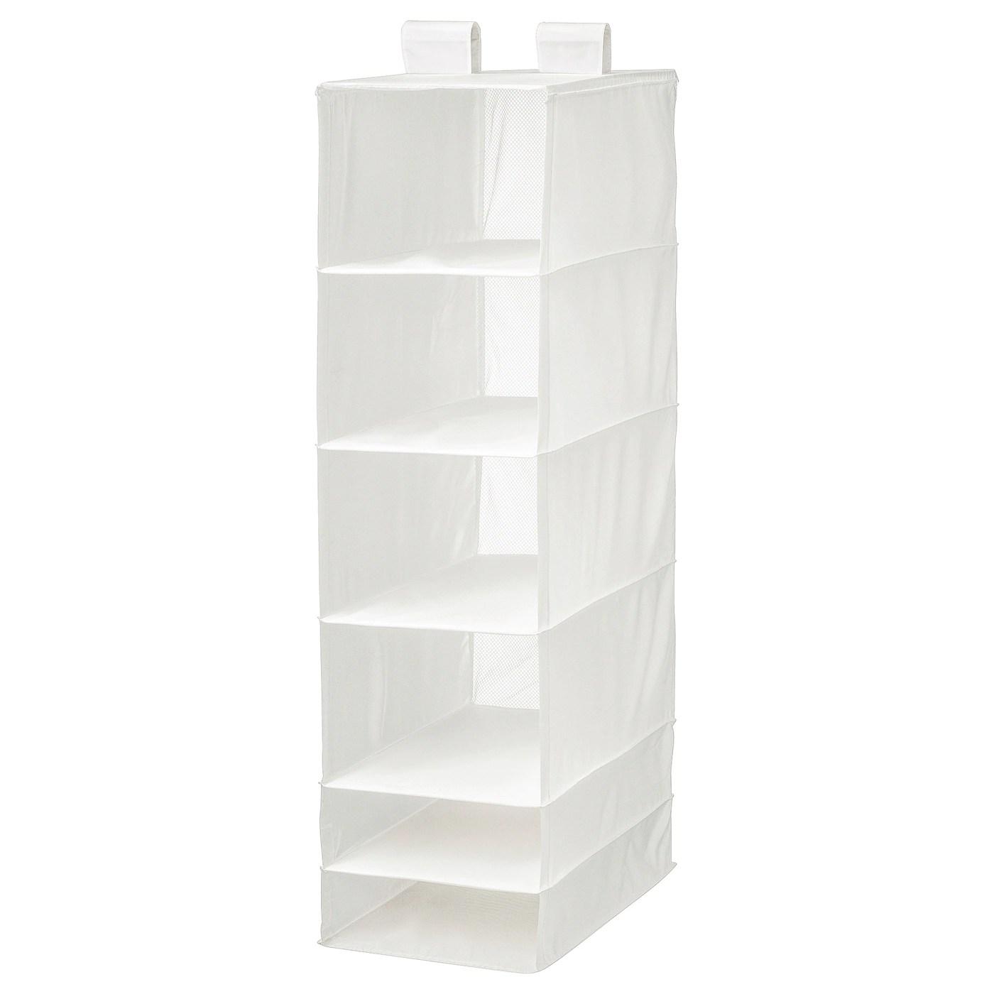 skubb rangement a 6 compartiments blanc 35x45x125 cm