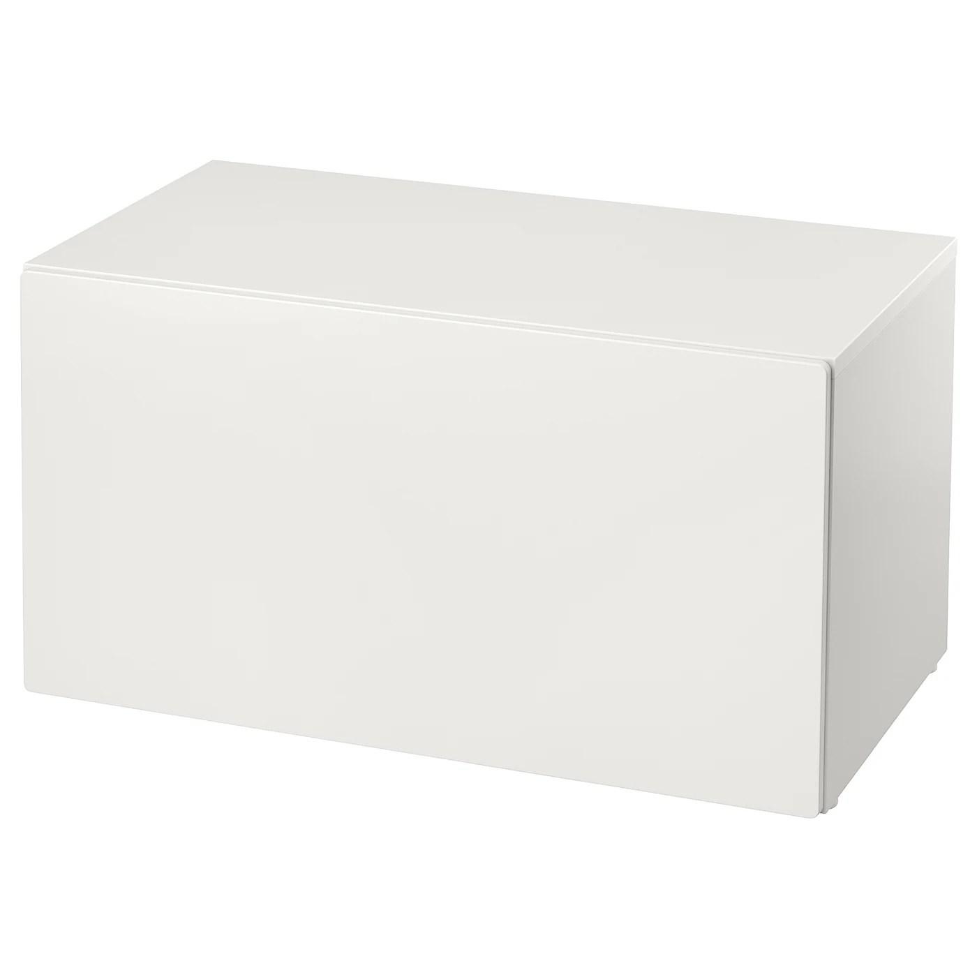Smastad Banc Avec Rangement Jouets Blanc Blanc Ikea