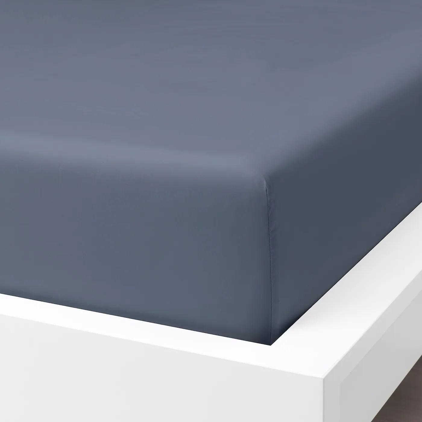 Somntuta Drap Housse Gris Bleu 90x200 Cm Materiau Durable Ikea