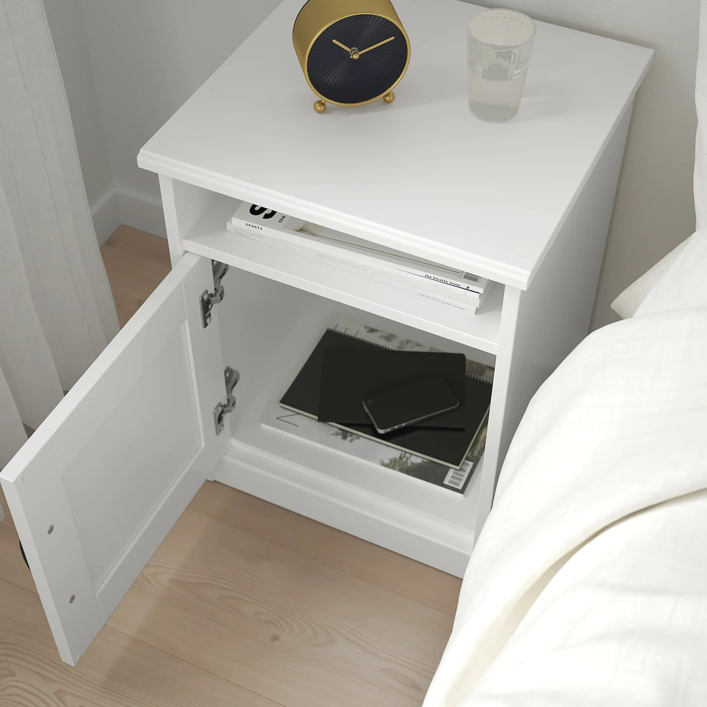 Songesand Table De Chevet Blanc 42x40 Cm Ikea