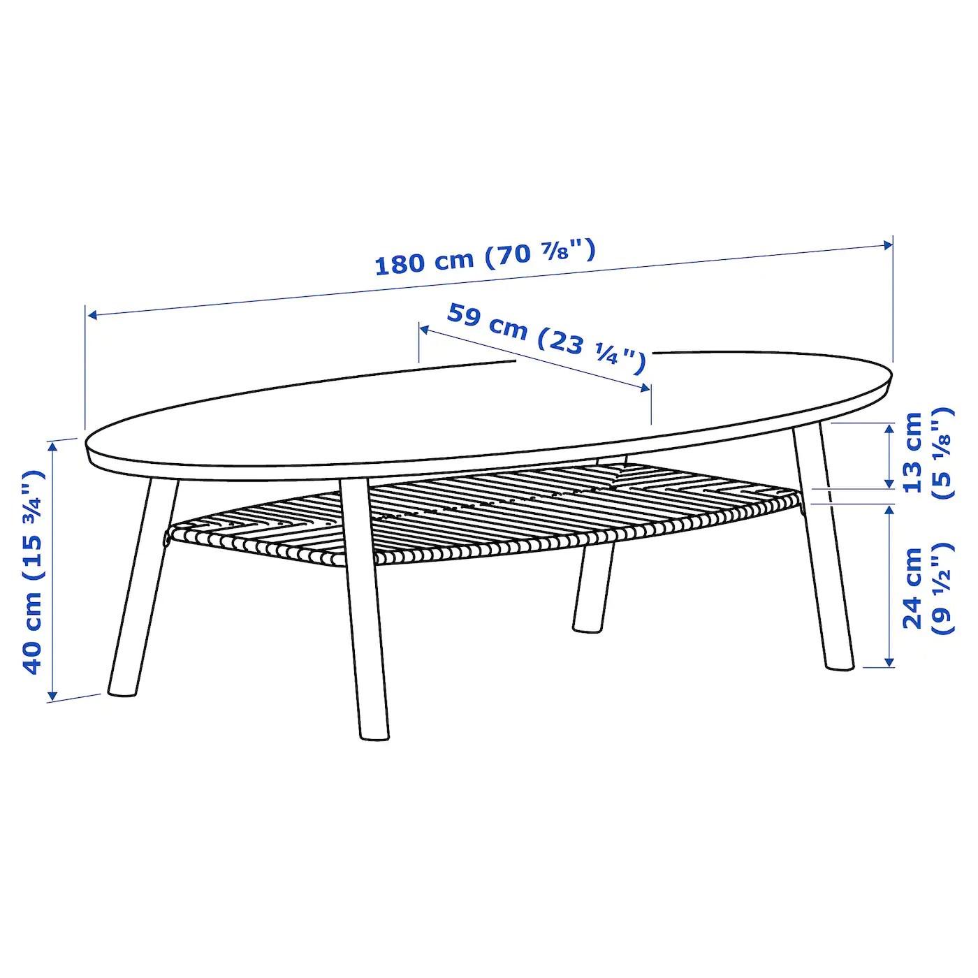 Stockholm Table Basse Plaque Noyer 180x59 Cm Ikea