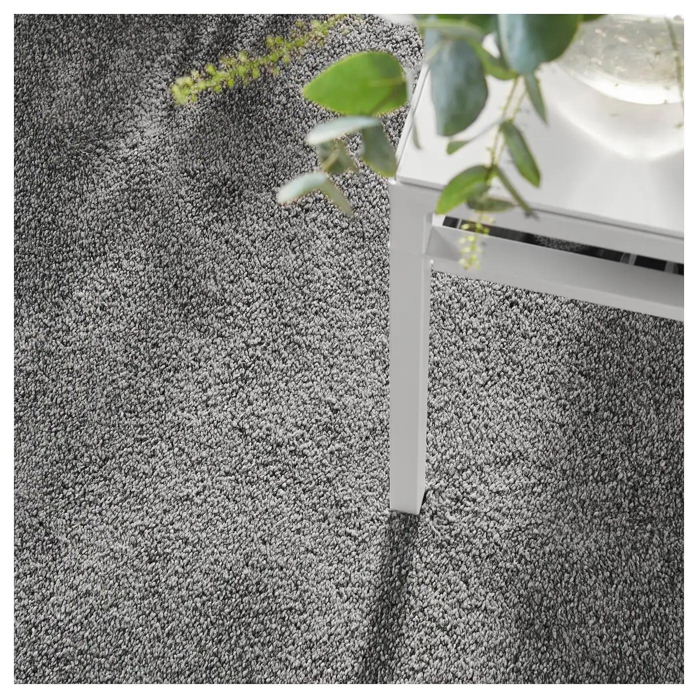 stoense tapis poils ras gris moyen 133x195 cm