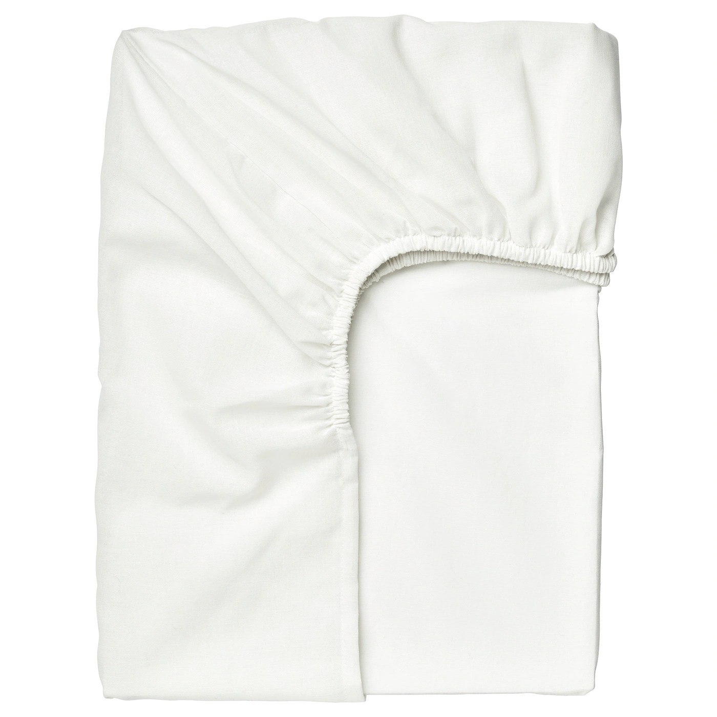 Taggvallmo Drap Housse Blanc 90x200 Cm Materiau Durable Ikea