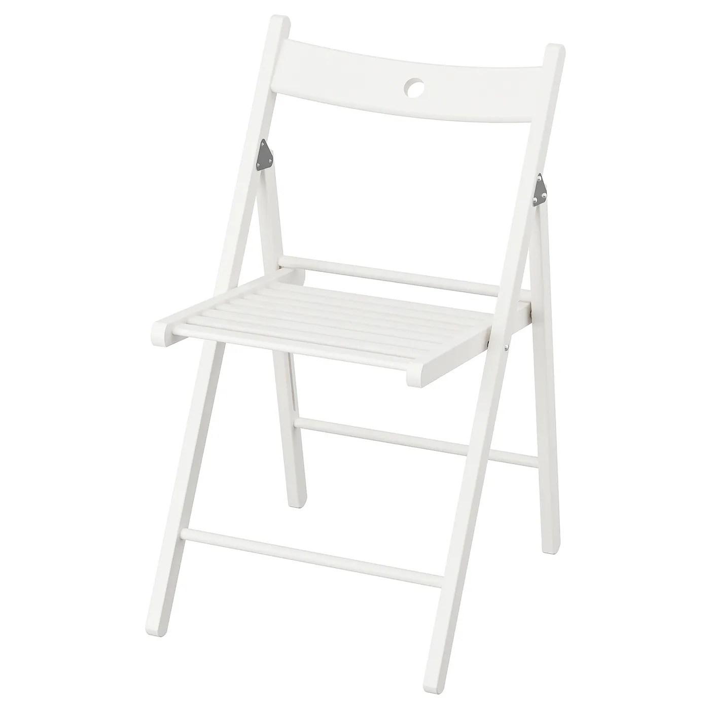 Terje Chaise Pliante Blanc Materiau Durable Ikea