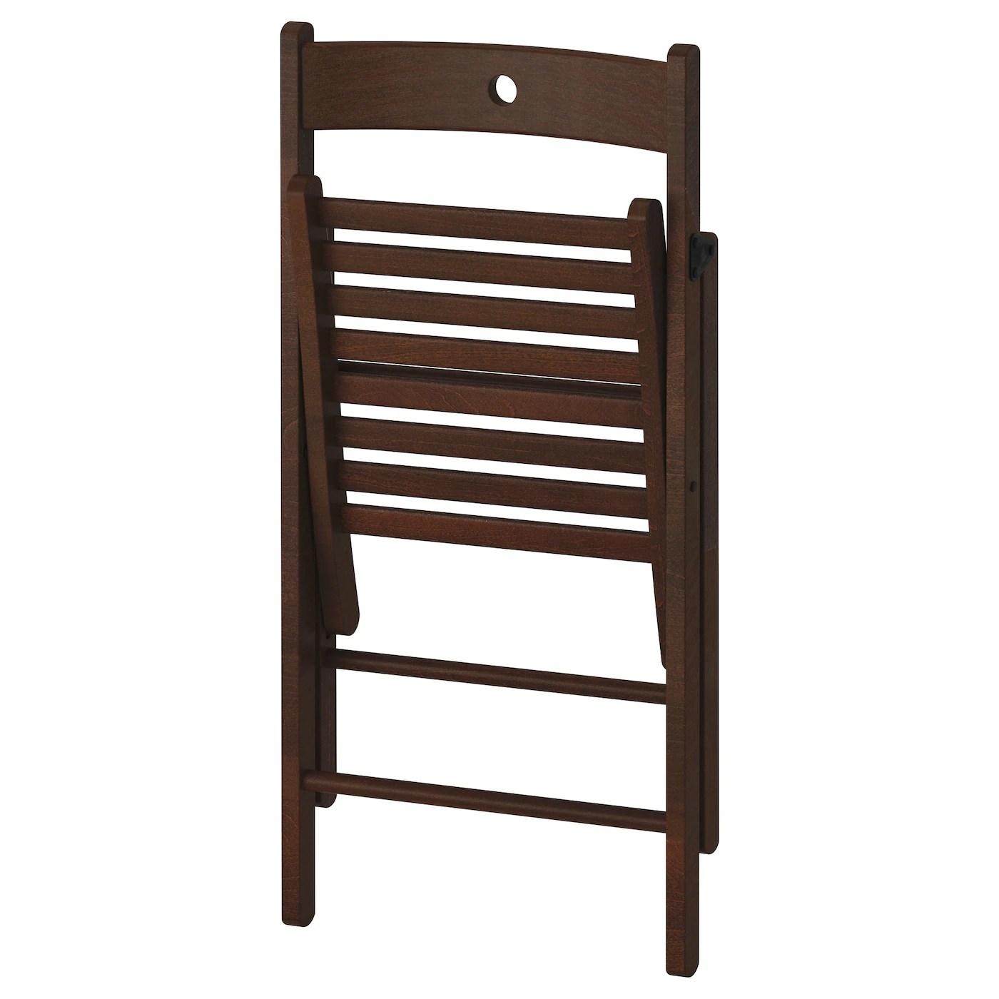 Terje Chaise Pliante Brun Materiau Durable Ikea
