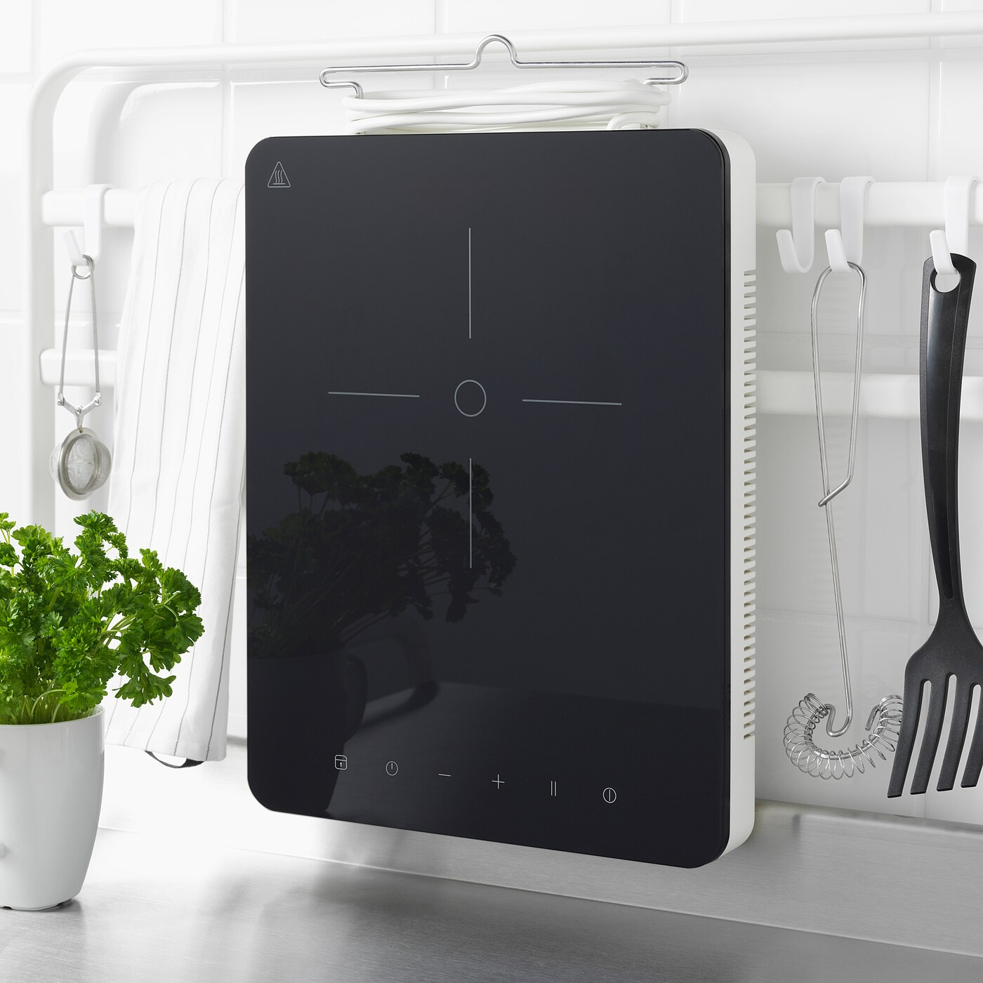 Tillreda Table De Cuisson A Induction Mobile Blanc Ikea